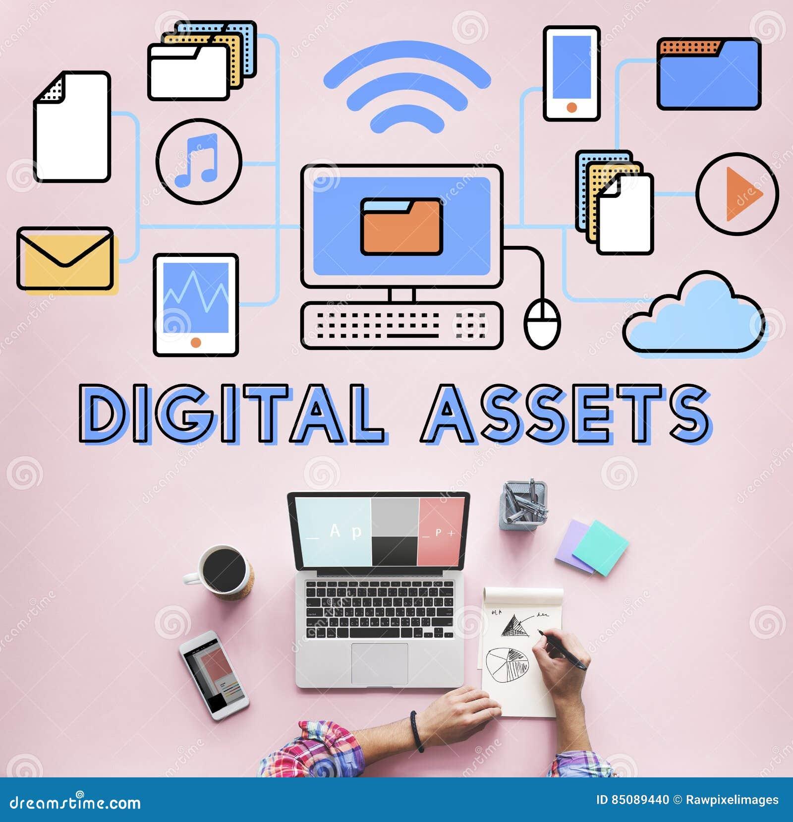 Les capitaux de Digital accessibles ouvrent le concept de l information