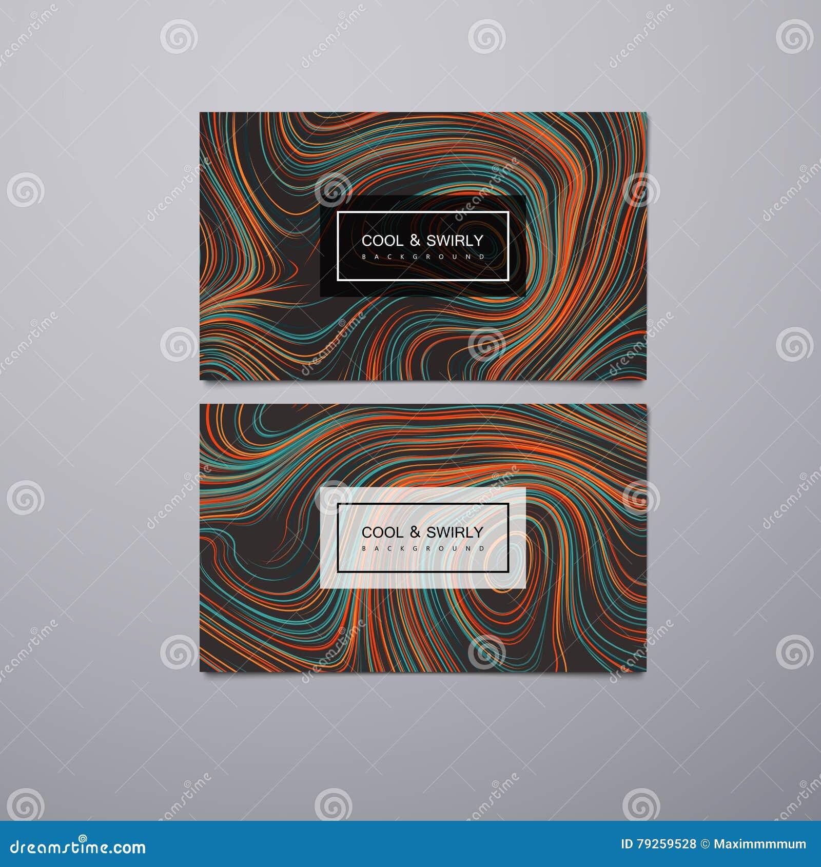 La Salutation Invitation Cartes De Visite Professionnelle Concoivent Le Calibre Avec Les Rayures Tourbillonnees Lillustration Vecteur Du