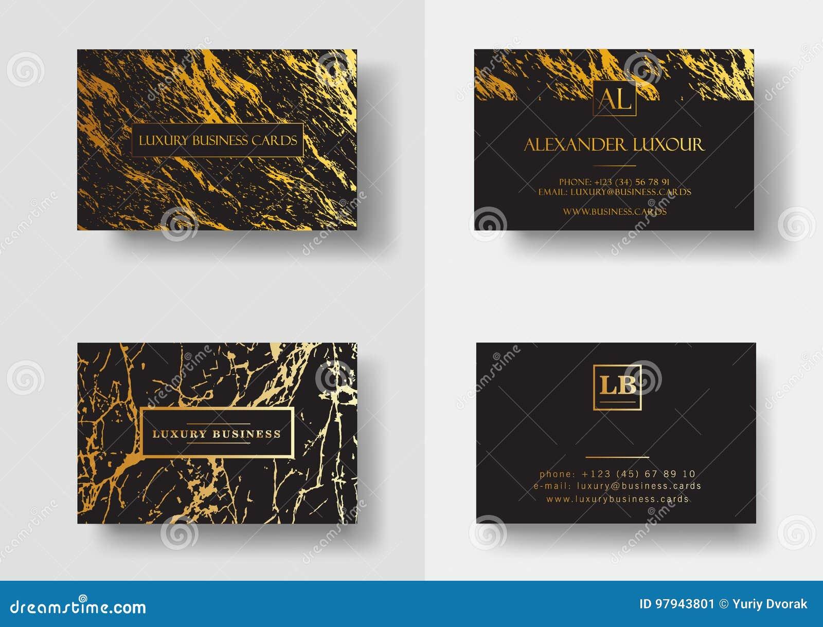 Les Cartes De Visite Professionnelle Luxe Noires Lgantes Avec La Texture Et Le