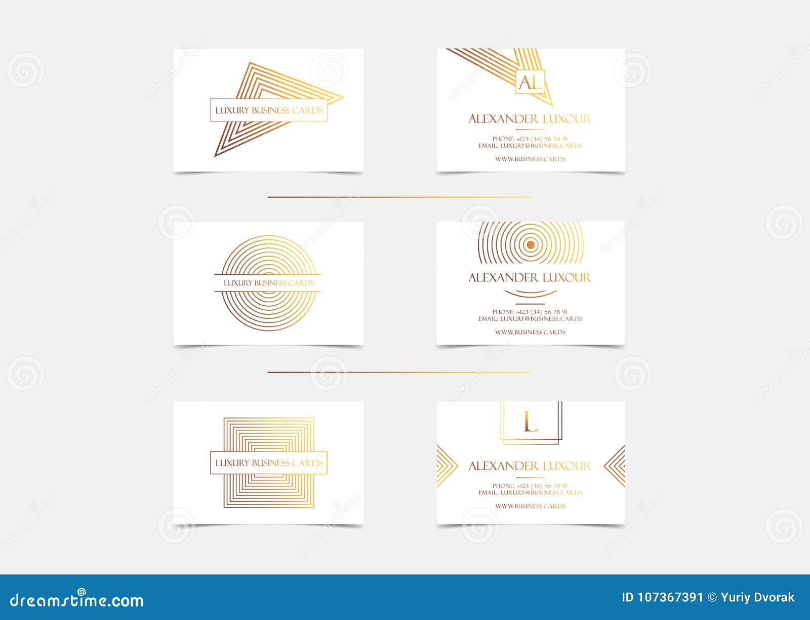 Les Cartes De Visite Professionnelle Luxe Dor Blanc Ont Place Pour Levenement VIP Carte Voeux Elegante Avec Le Modele Geometrique