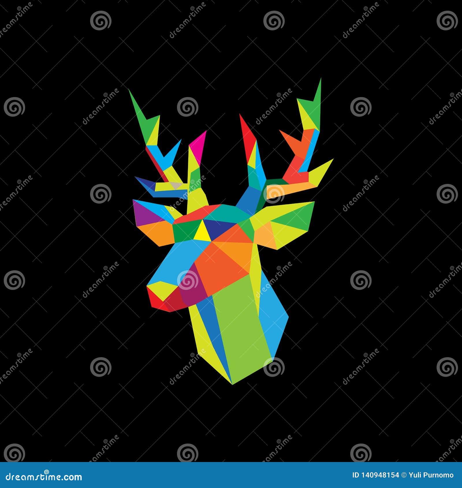 Les cerfs communs géométriques dirigent l image