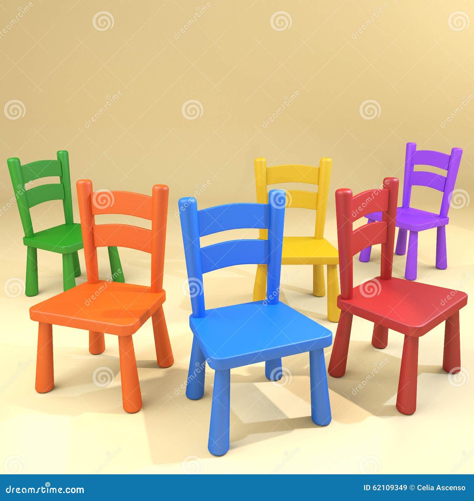 Les Chaises D Cole De Jardin Enfants Ont Brouill Groupe