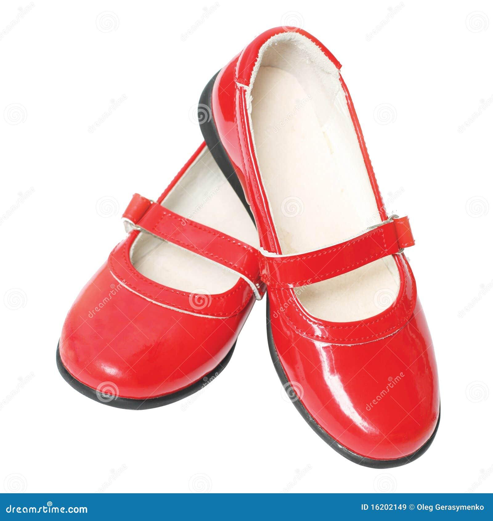 les chaussures vernies des enfants rouges image stock. Black Bedroom Furniture Sets. Home Design Ideas