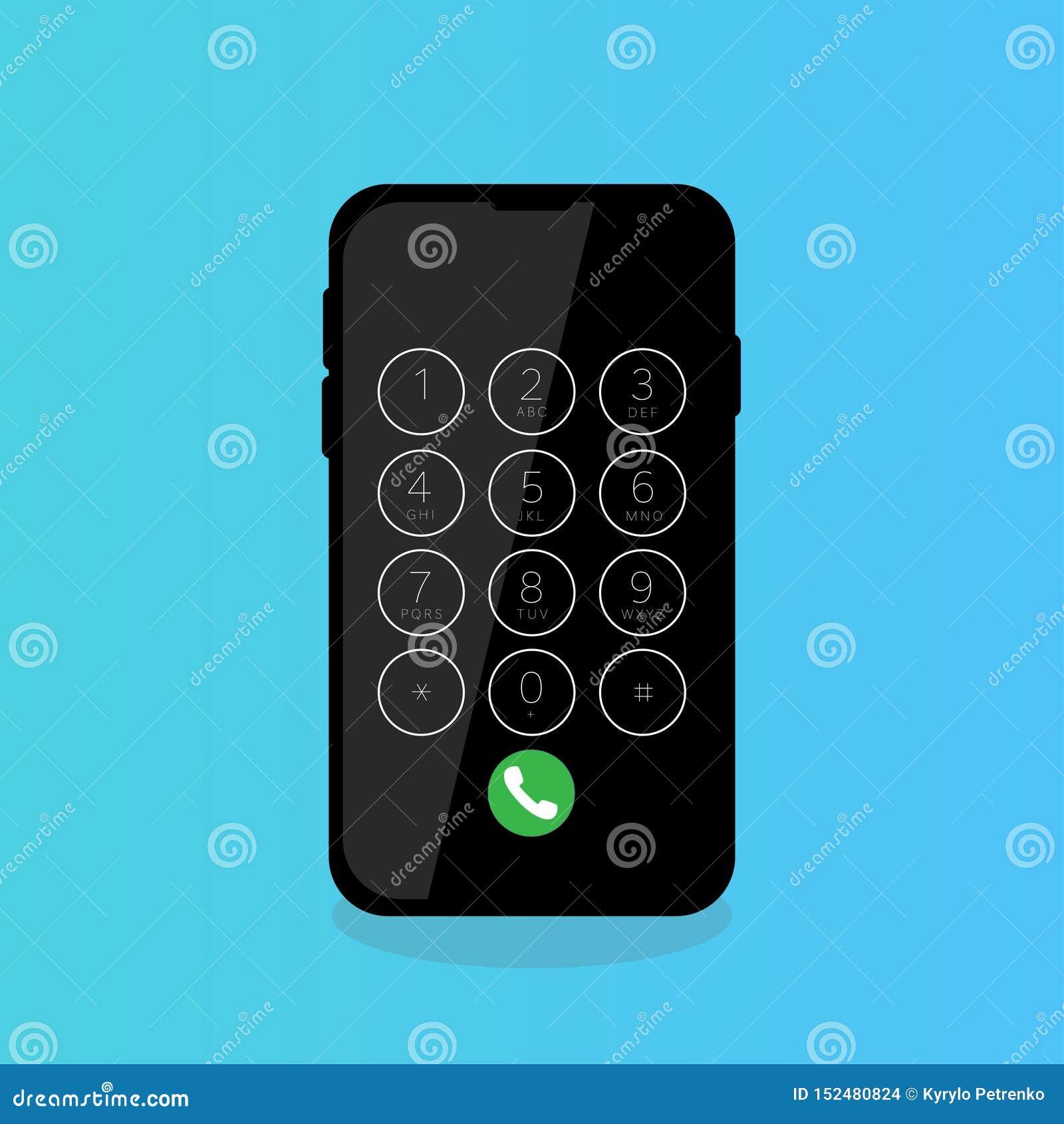 Les chiffres de composition d écran tactile de téléphone portable appellent