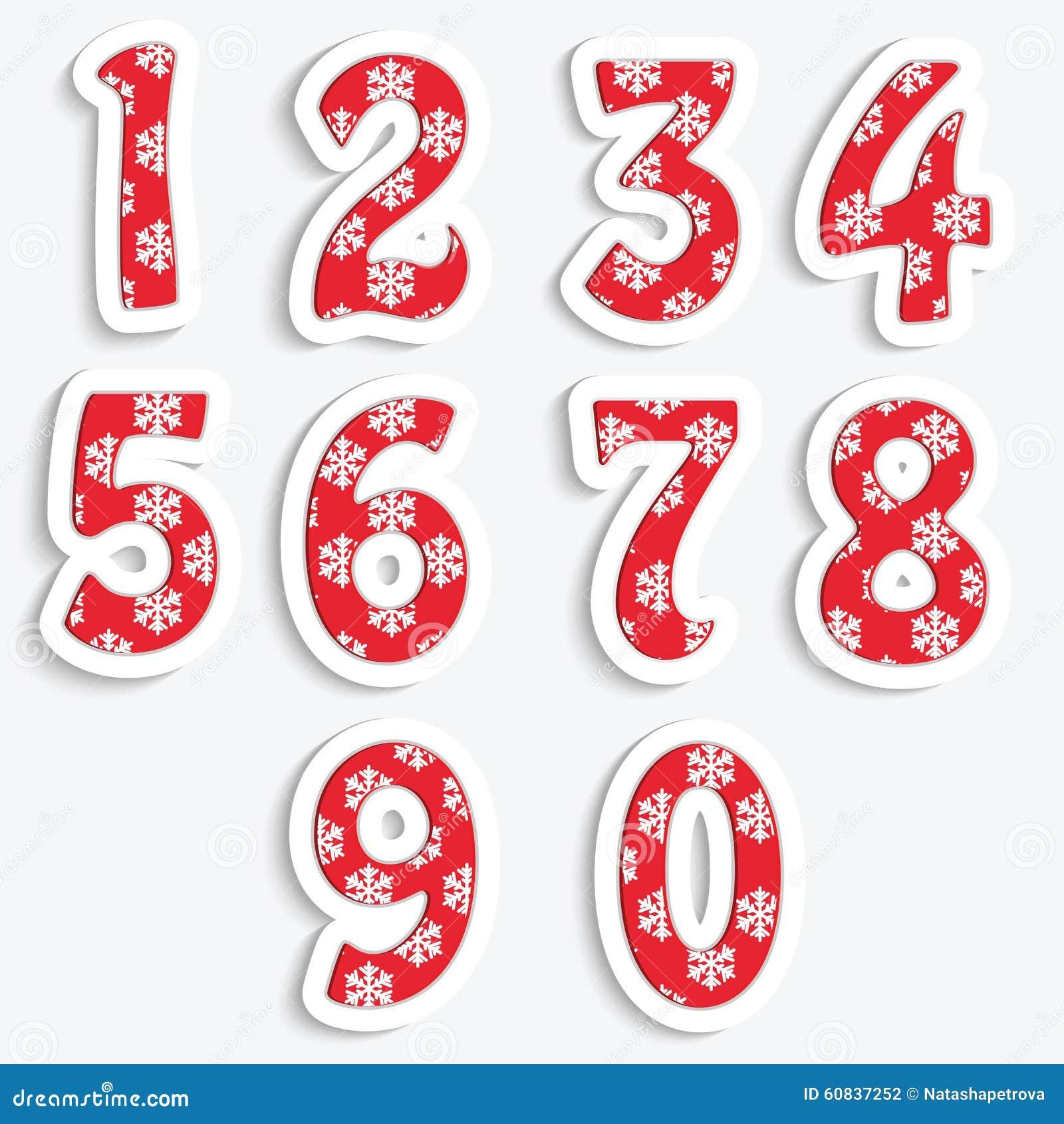 chiffre noel Les Chiffres Pour La Conception De Noël Illustration de Vecteur  chiffre noel