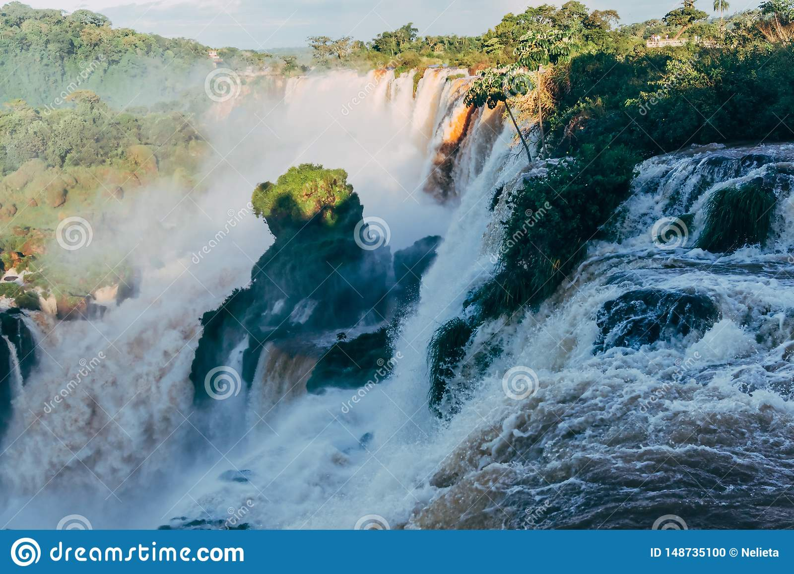 Les chutes d Igua?u dans la province de l Argentine Misiones