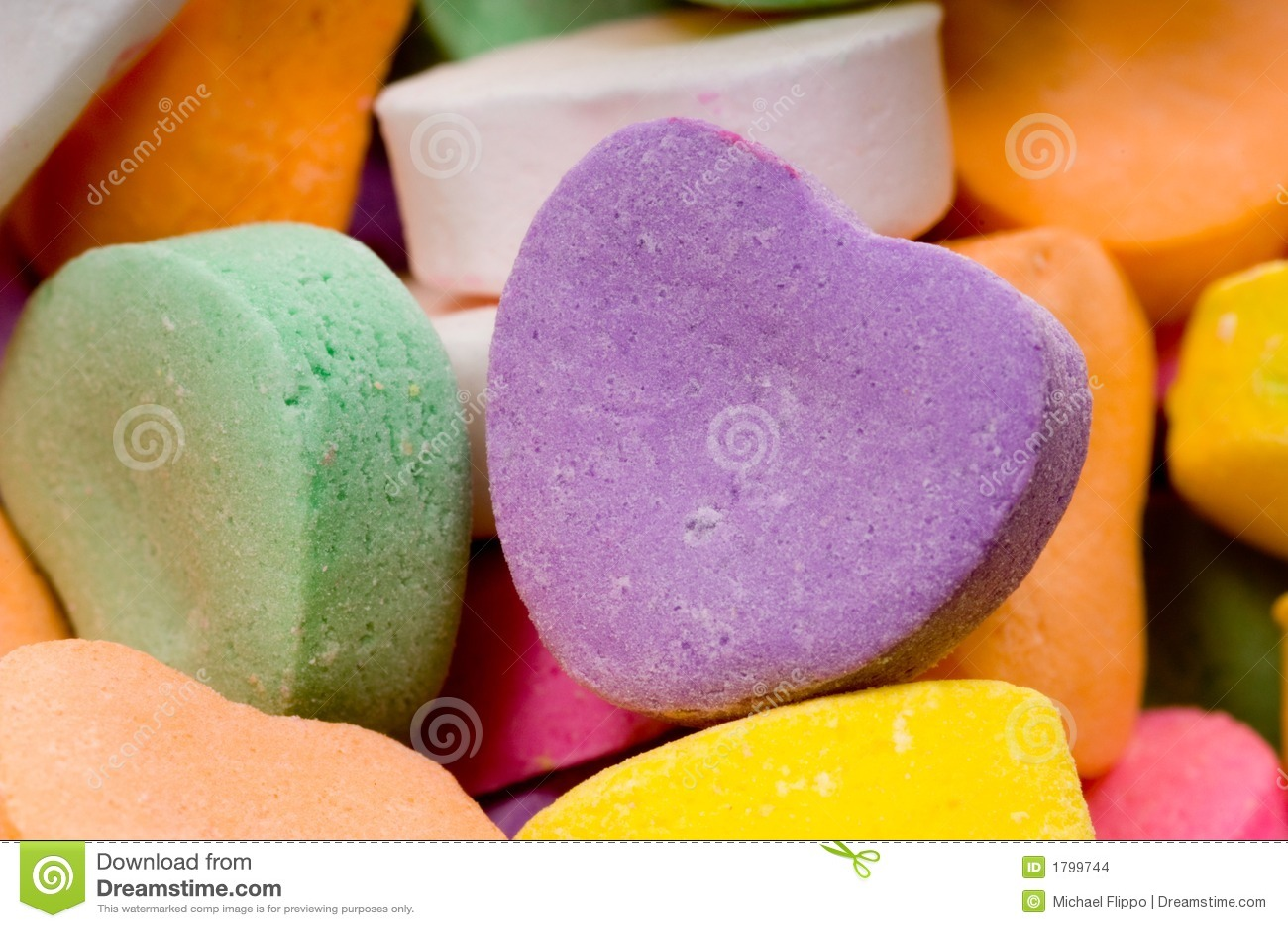 Les coeurs de Valentine de sucrerie - plan rapproché