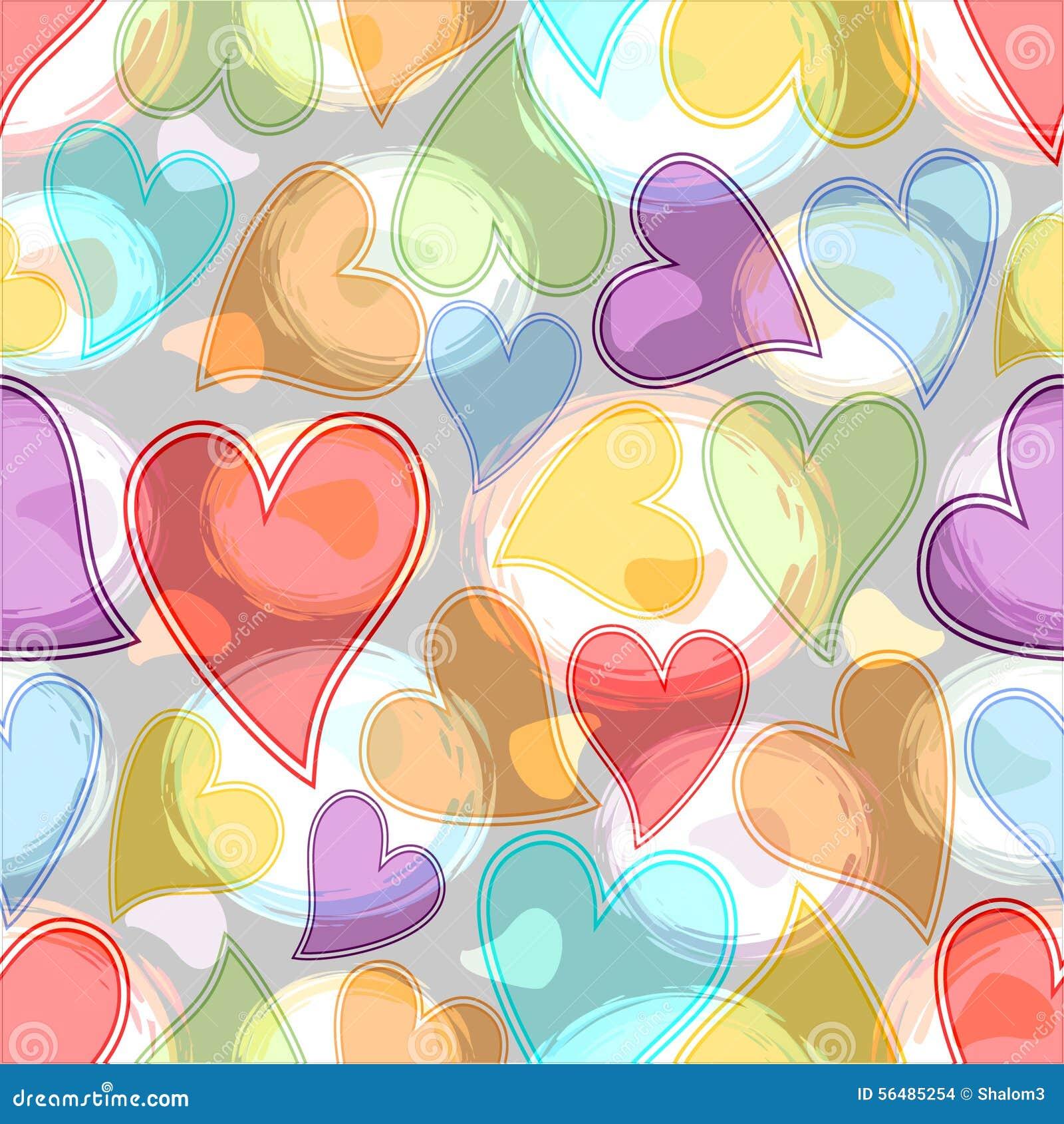 Les coeurs et les cercles en pastel, doux ont coloré la tuile abstraite de fond