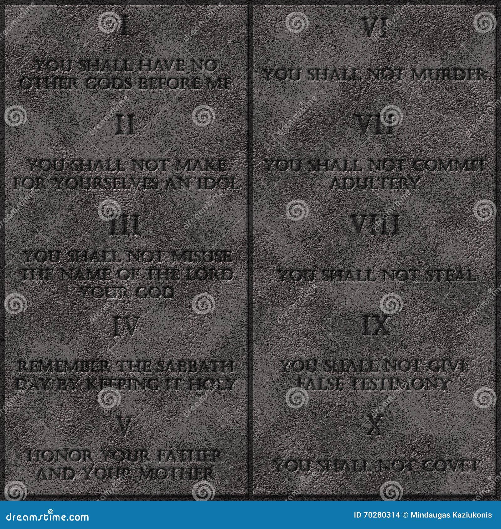 les 10 commandements de dieu pdf