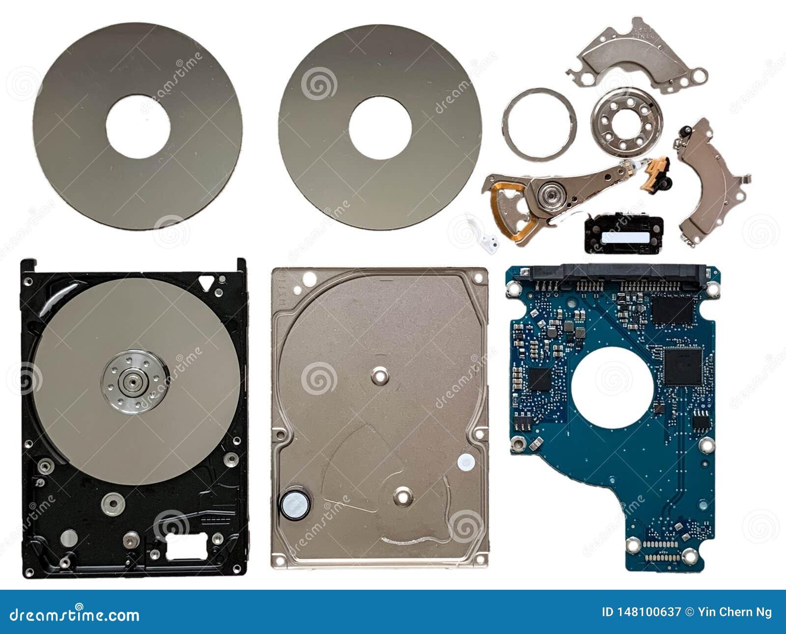 Les composants de lecteur de disque dur ont isolé