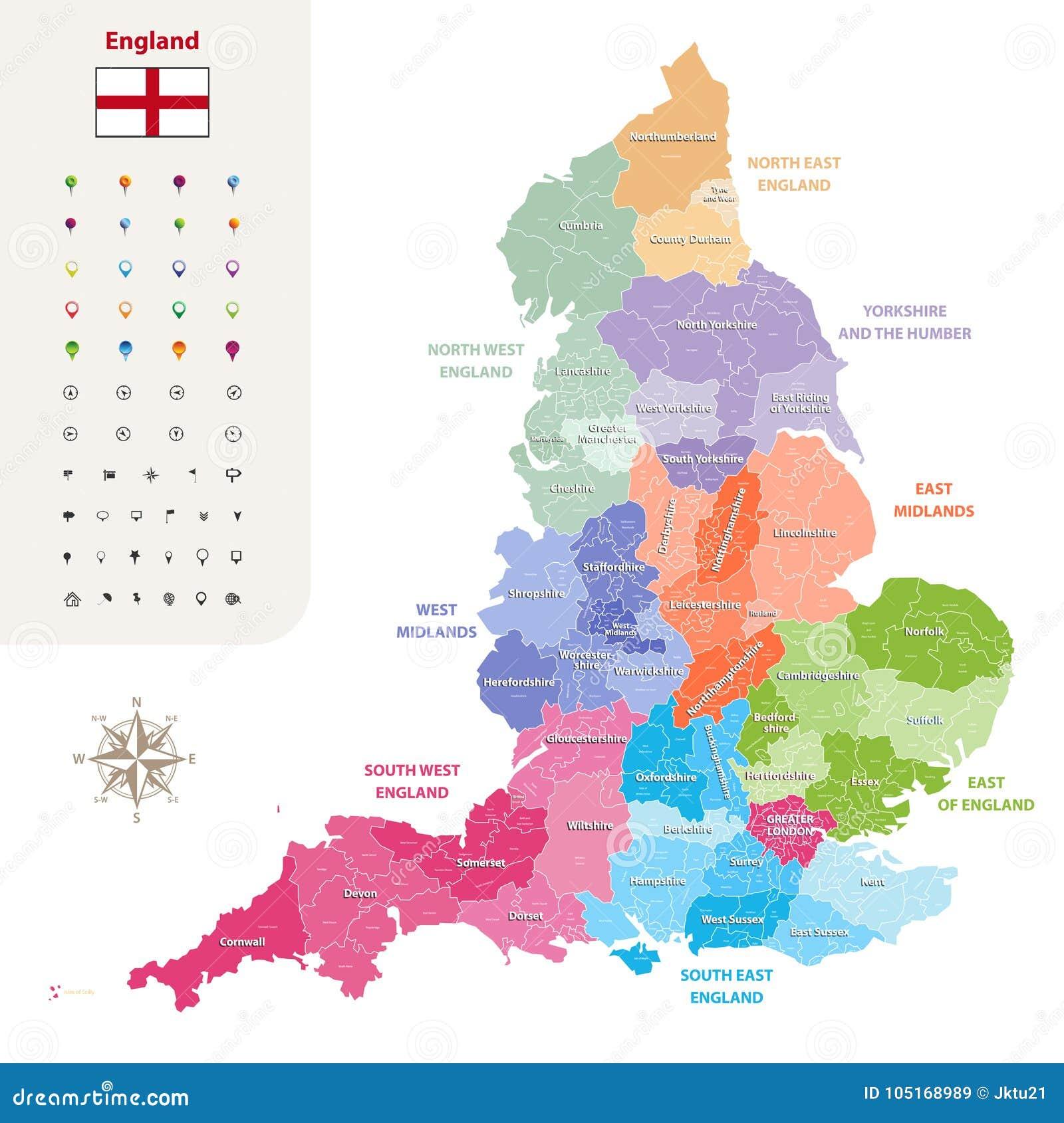 Carte Angleterre Region.Les Comtes Ceremonieux De L Angleterre Dirigent La Carte