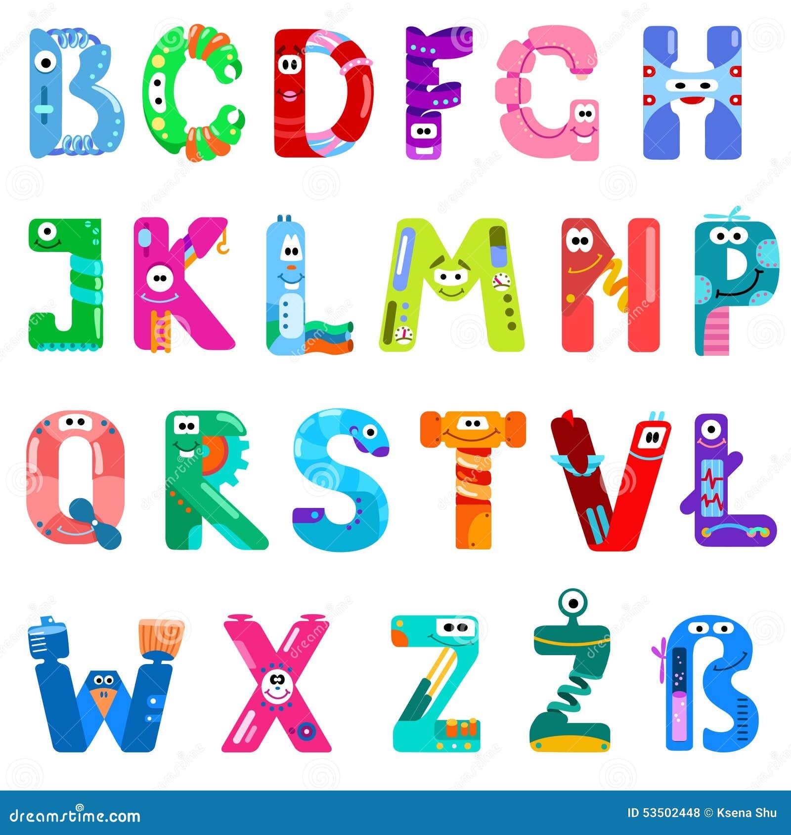 Les consonnes de l alphabet latin aiment différents robots