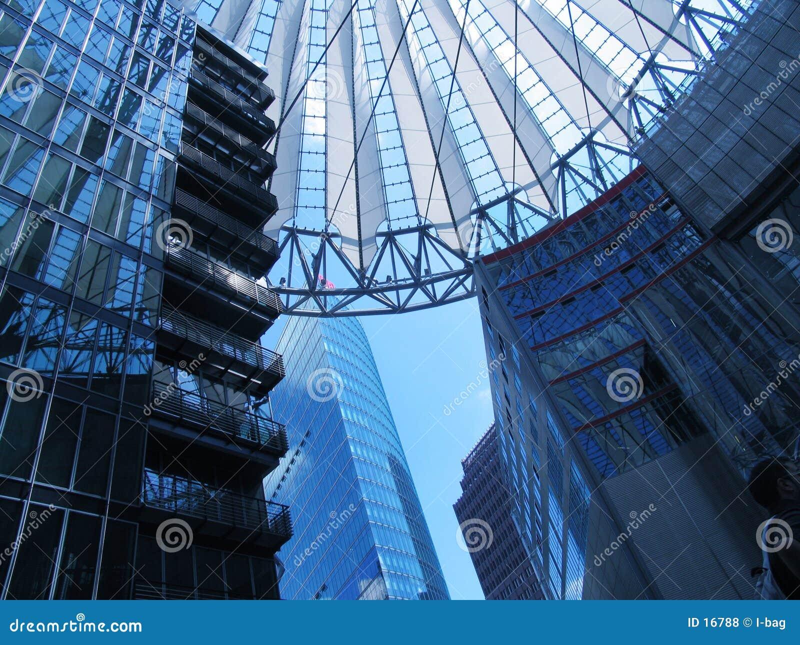 Les constructions jouent au centre de Sony, Berlin