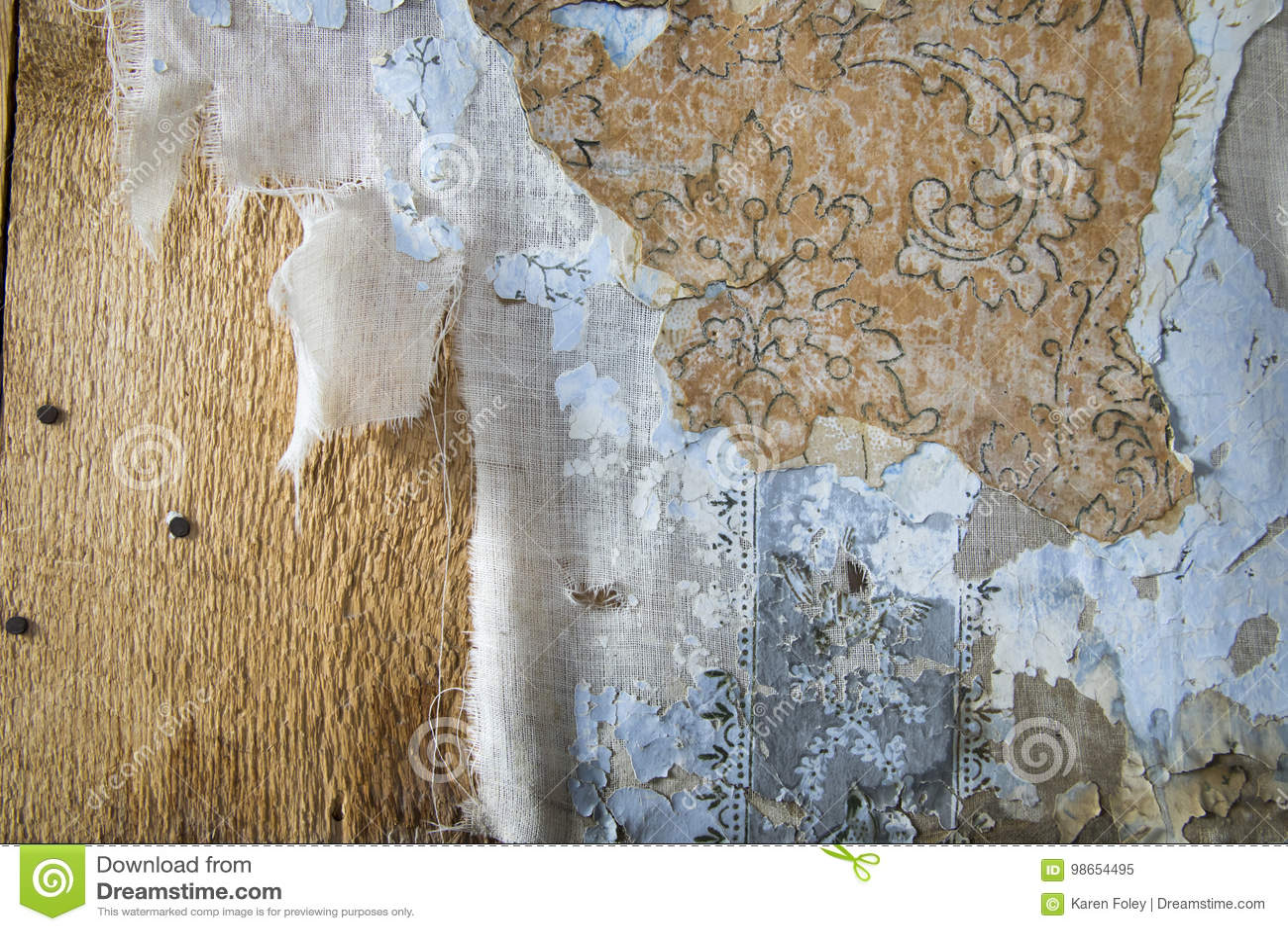 Les couches d épluchage wallpaper, Bodie, la Californie