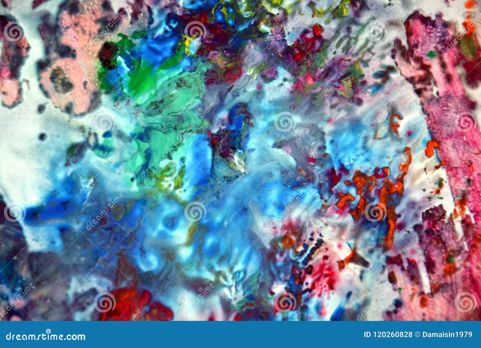 Les Couleurs Roses Violettes De Melange De Vert Bleu Peignant