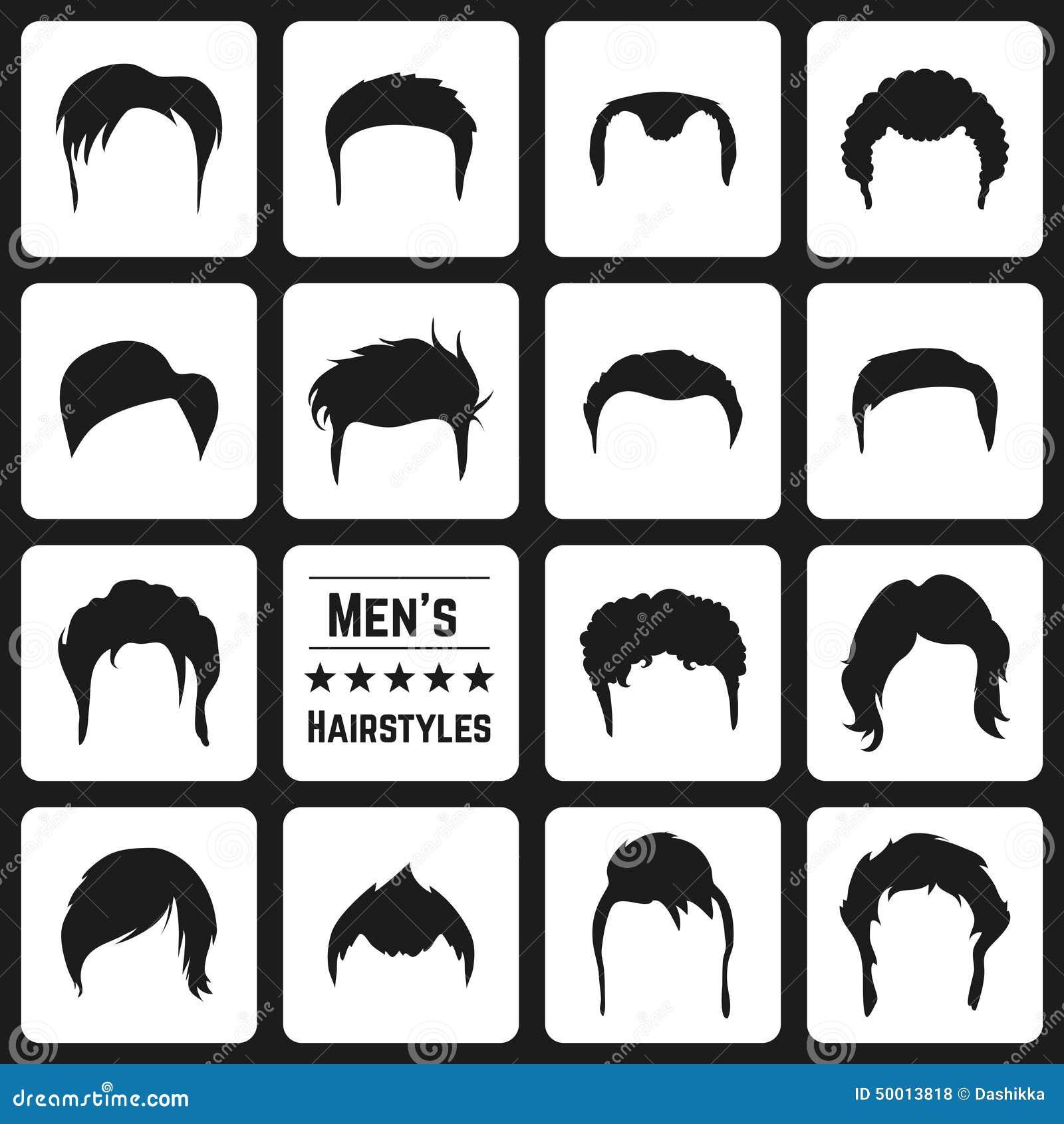 Les Coupes De Cheveux Des Hommes Illustration De Vecteur