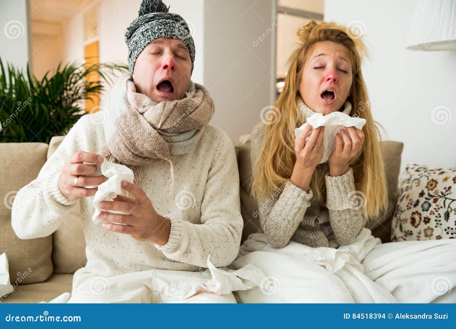 Les couples en difficulté attrapent le froid