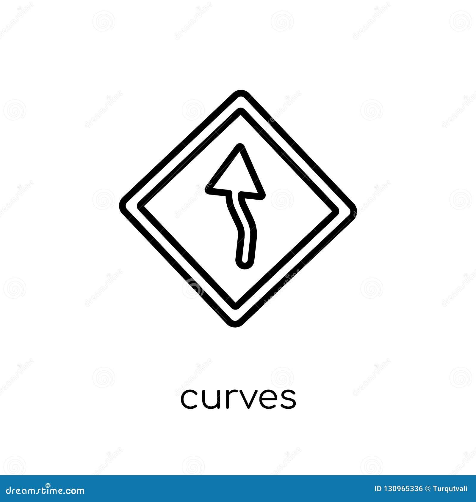 Les courbes signent l icône Le vecteur linéaire plat moderne à la mode courbe le signe i