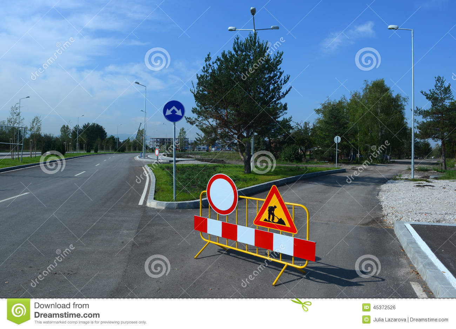 Les courses sur route signent pour des travaux de construction de Sofia, Bulgarie, septembre 18, 2014