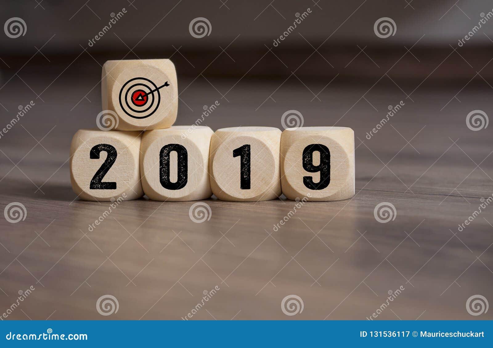 Les cubes découpent avec des buts de cibles pour 2019