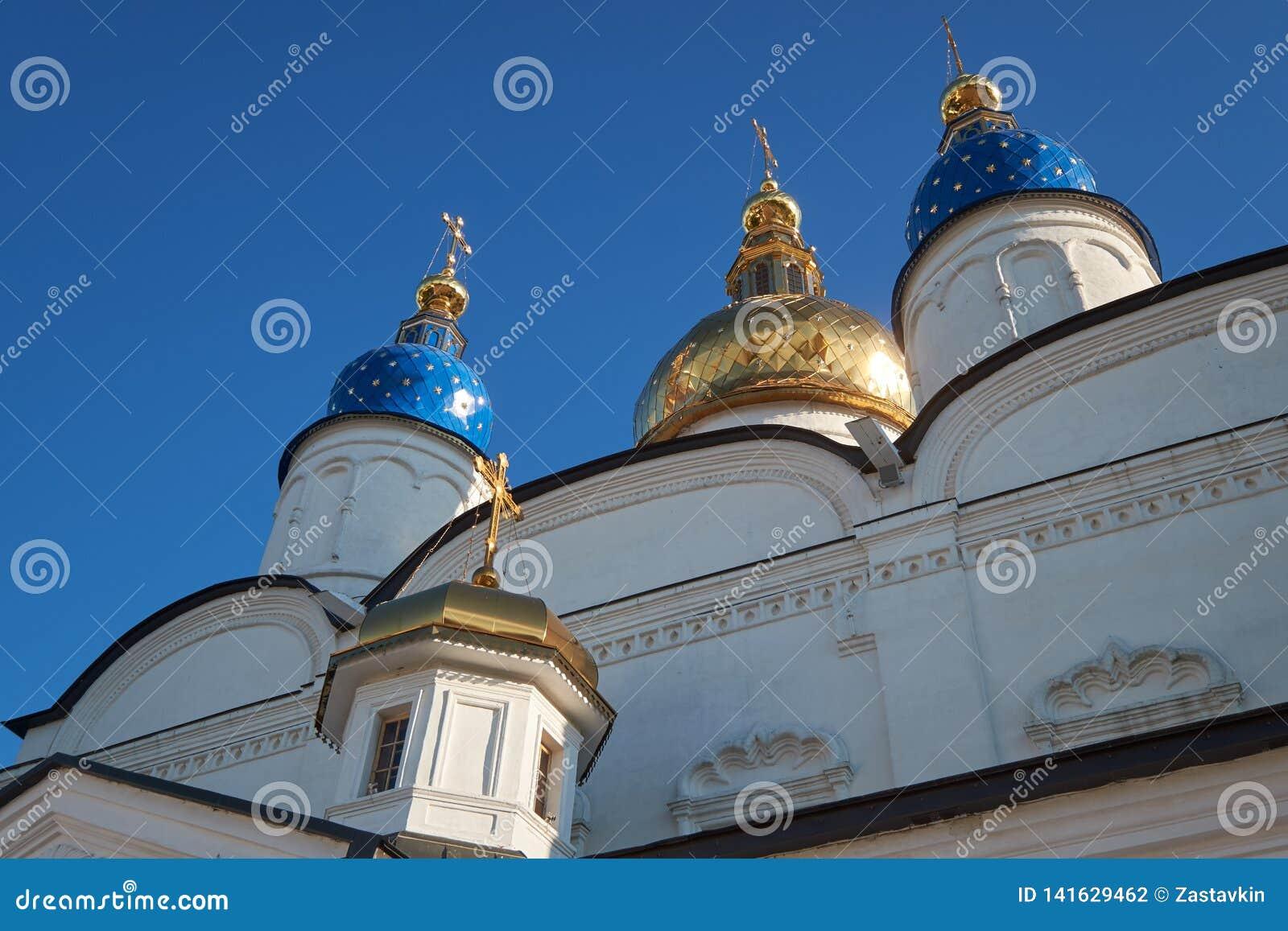Les dômes d oignon-forme de la cathédrale de Sophia-hypothèse de St de Tobolsk Kremlin Tobolsk Russie