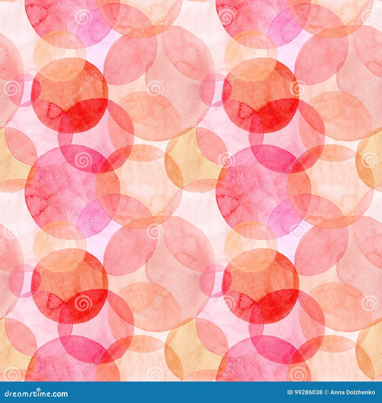 Les différentes formes de beaux cercles rouge-rose oranges lumineux transparents merveilleux tendres artistiques abstraits d auto