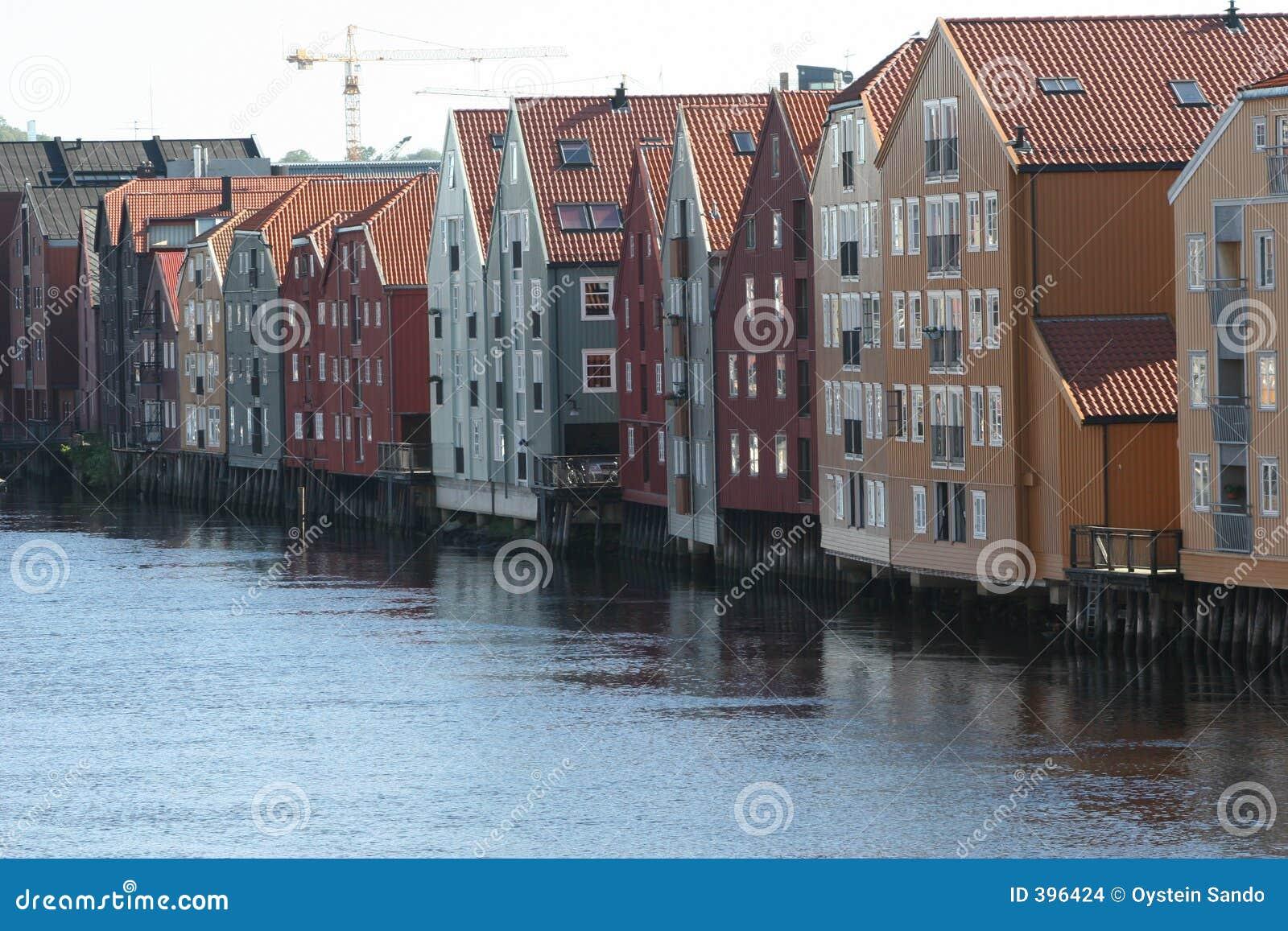 Les docks de Trondheim