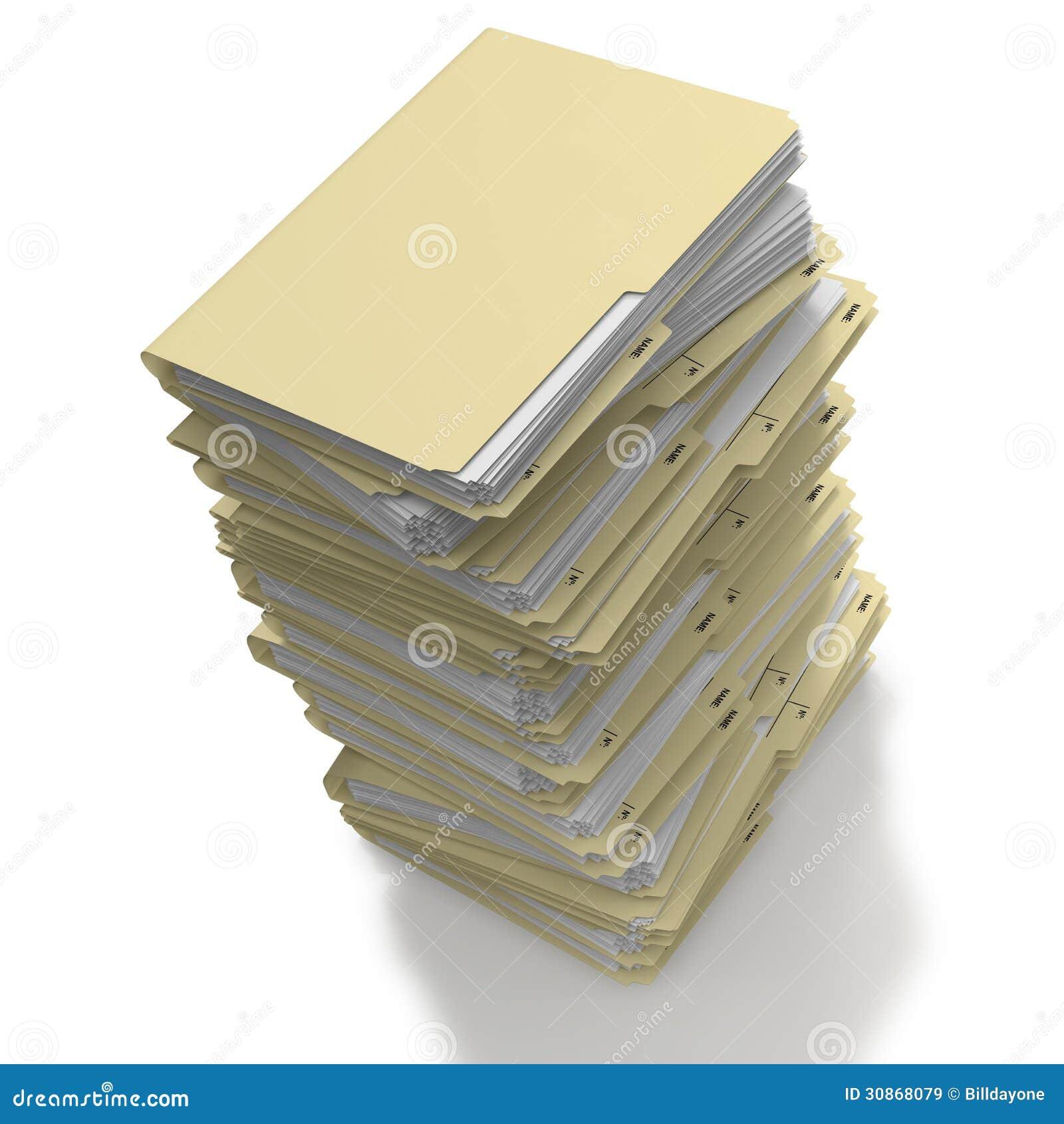 les dossiers ont empil 233 pr 234 t pour l archivage images libres de droits image 30868079