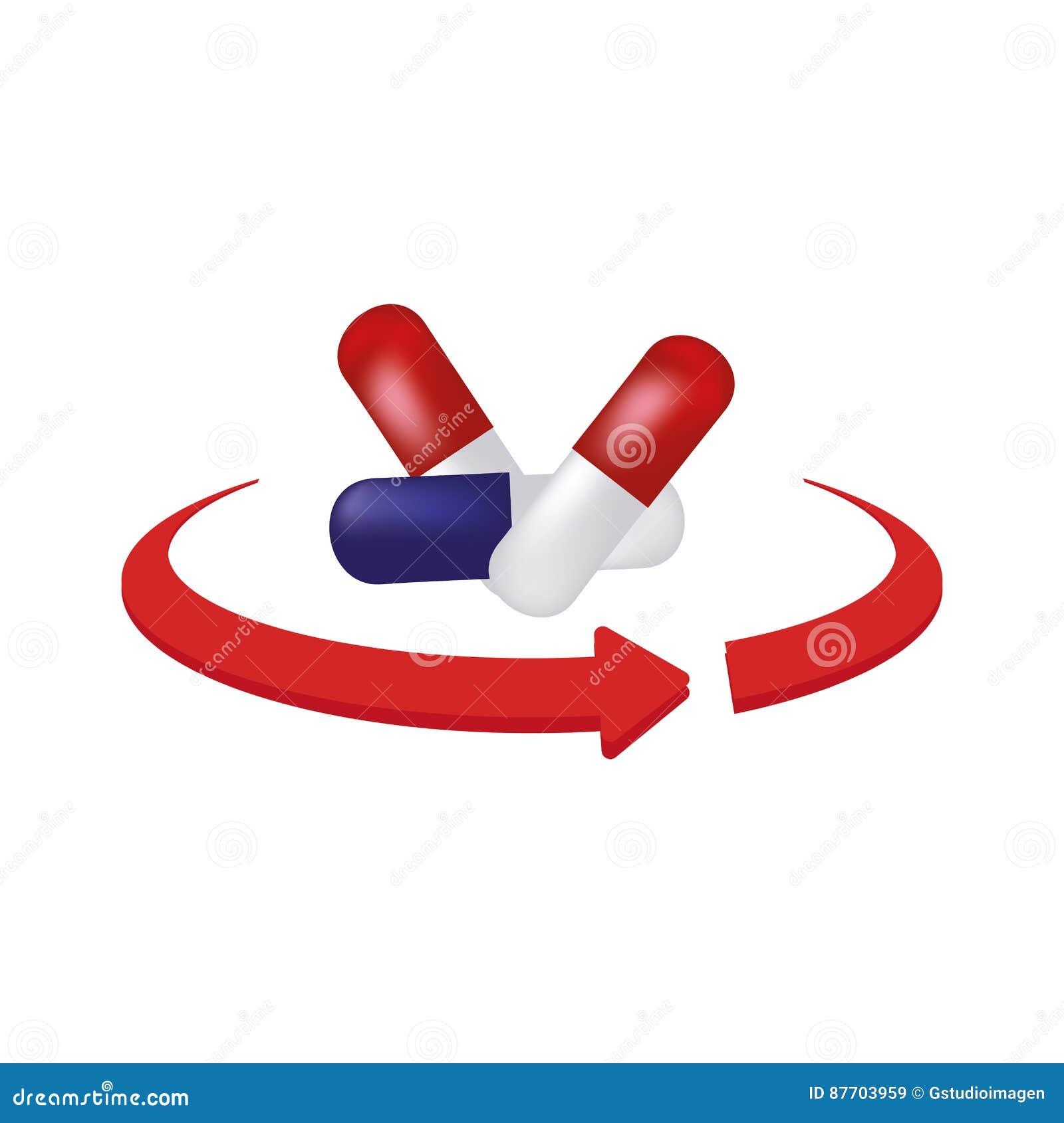 Les drogues de médecine ont isolé l icône