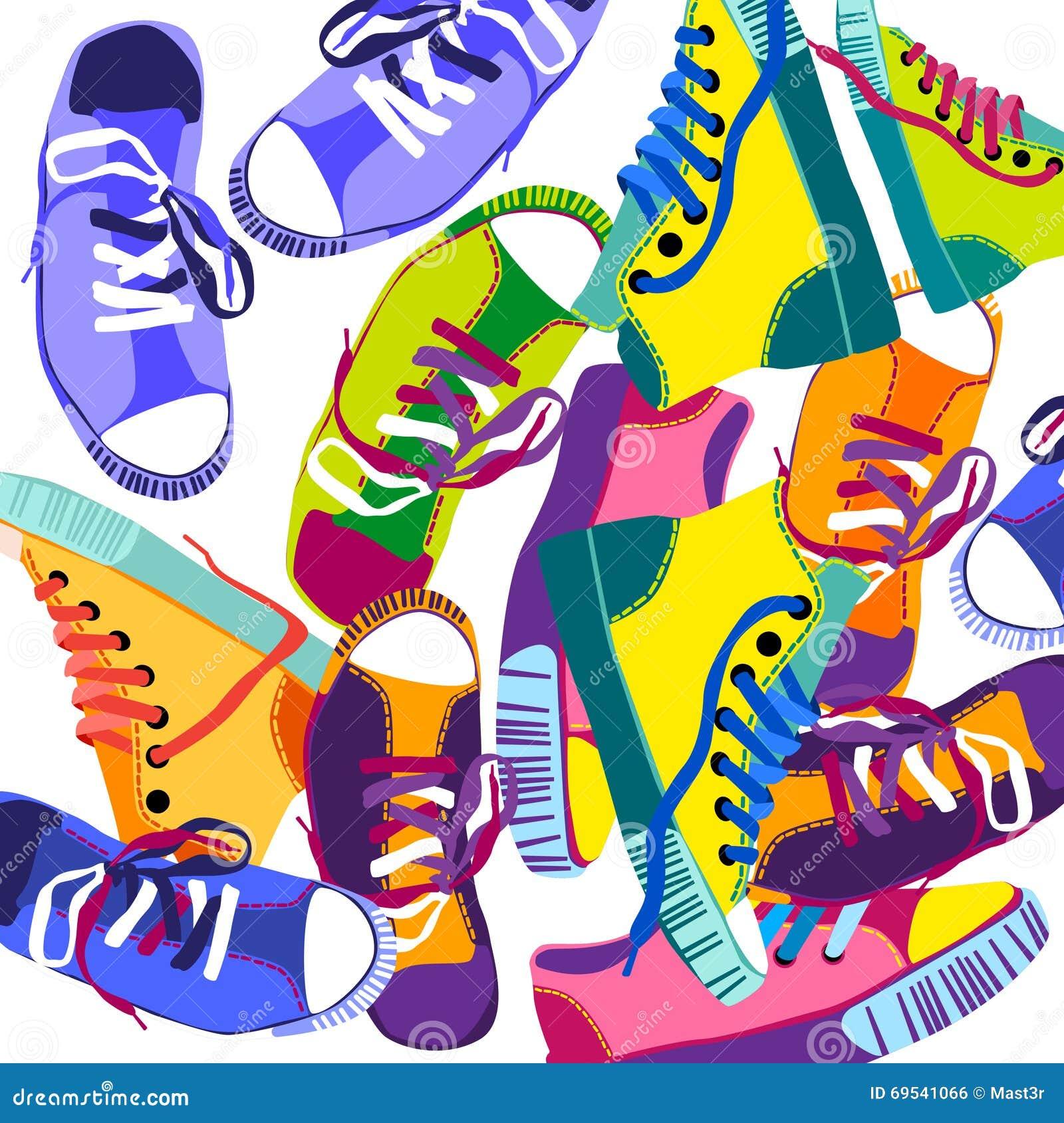 Espadrilles Sport Chaussures Formant Ont Colorées De Les Placé Des UwdqTUA 687c5c7ebd6