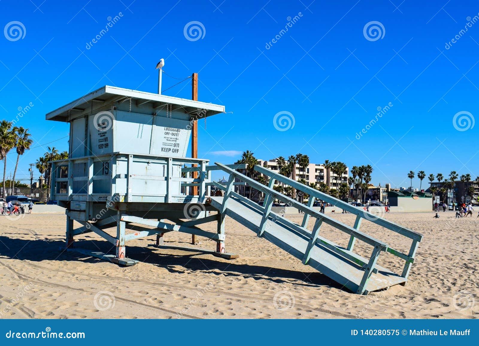 Les Etats-Unis échouent et maître nageur Tower en Santa Monica, la Californie