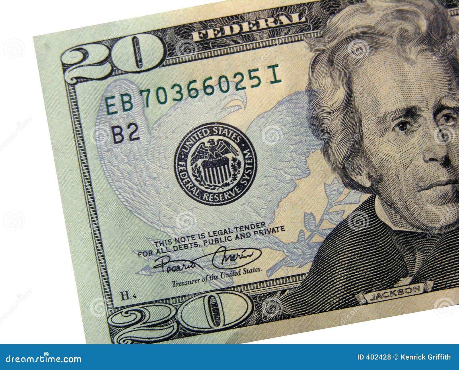 Les Etats-Unis $20 Bill