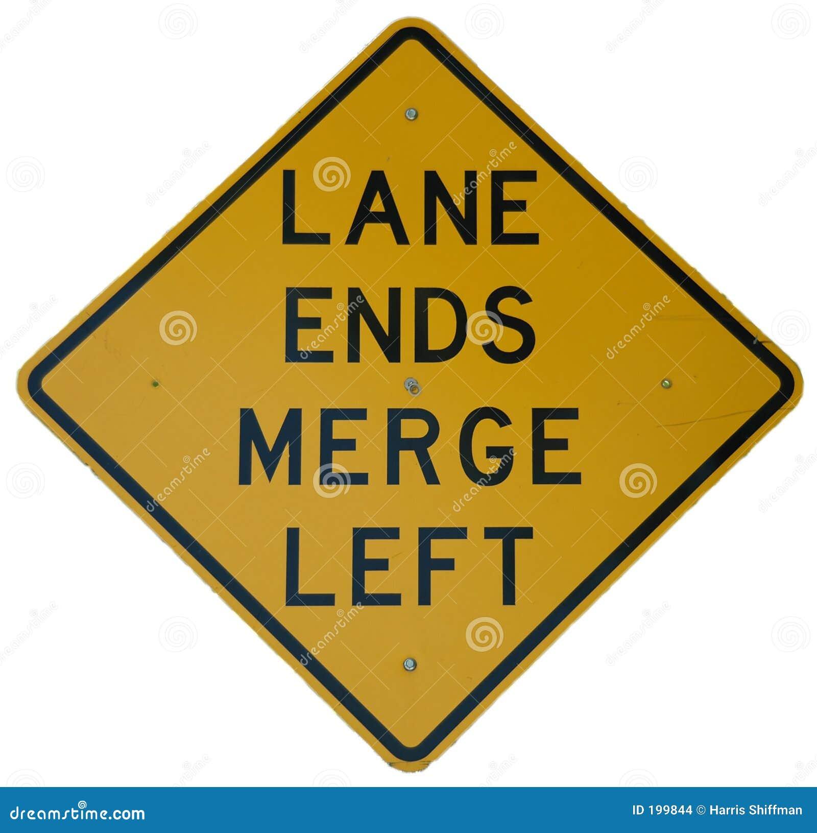 Les extrémités de voie fusionnent à gauche