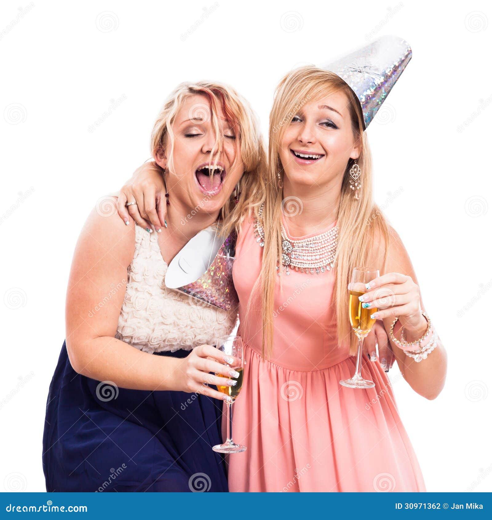 Fille ivre en fête