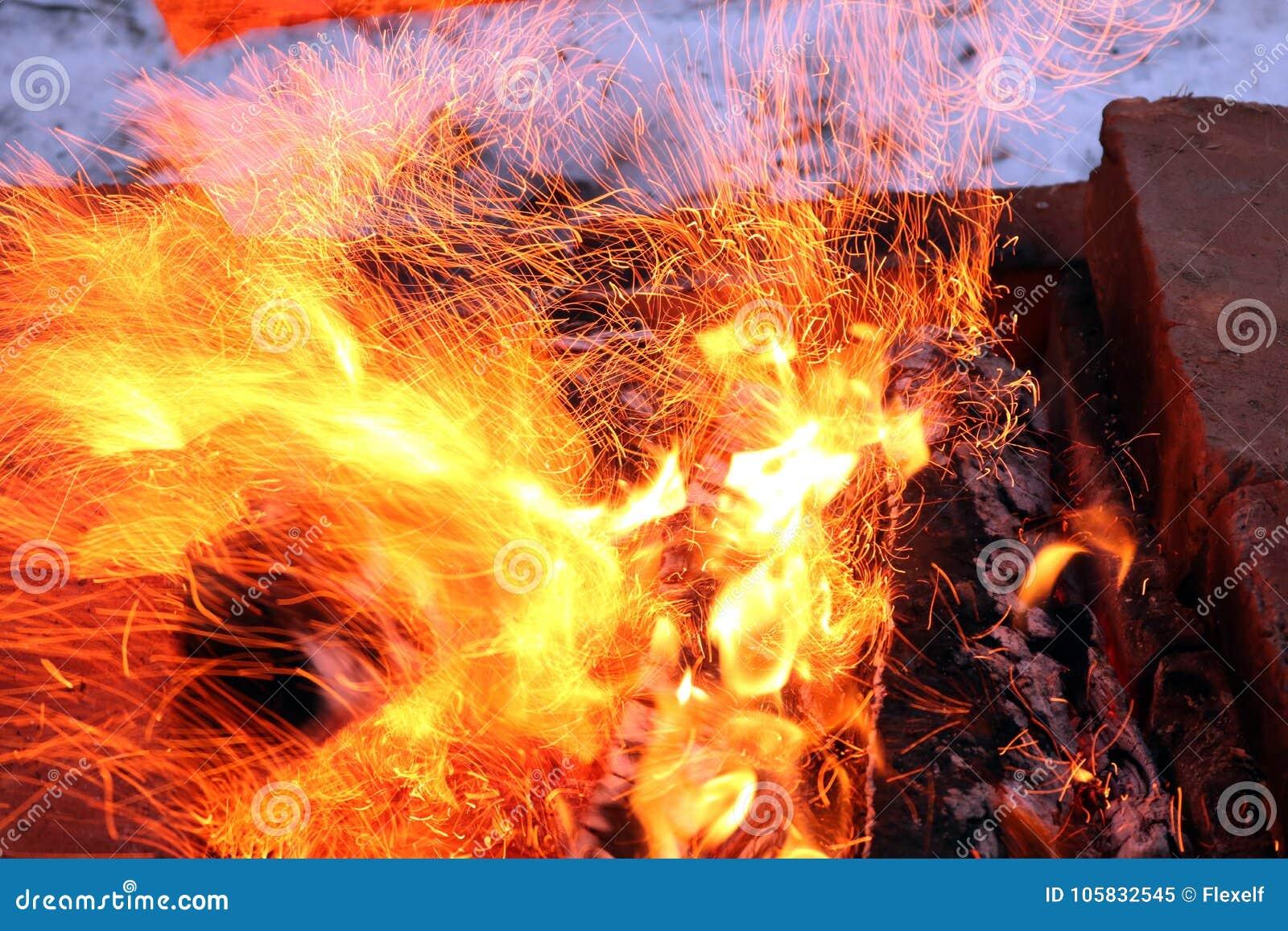 Les flammes du feu