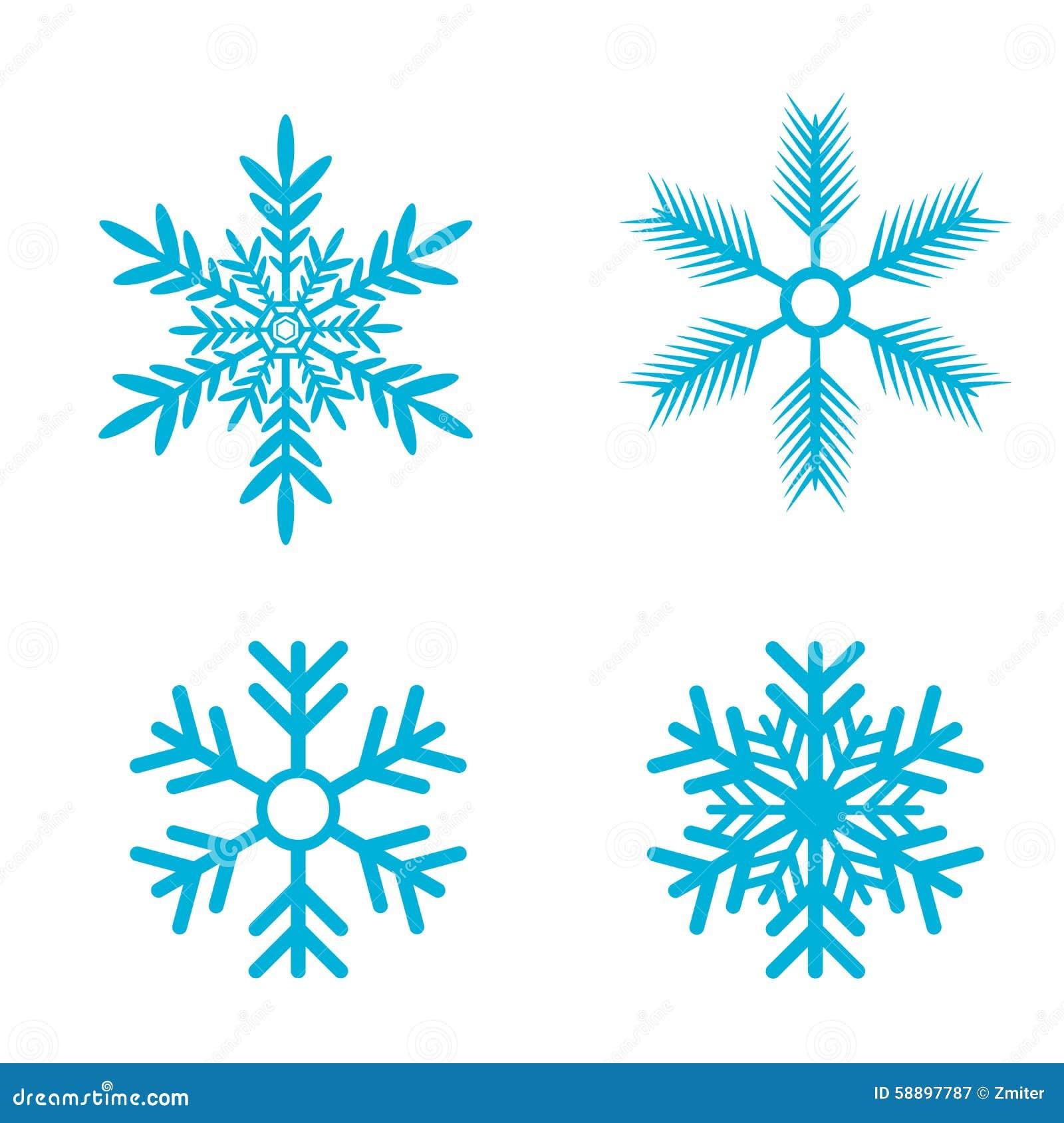 Les flocons de neige dirigent le positionnement ic ne de flocon de neige illustration de vecteur - Gabarit flocon de neige a decouper ...