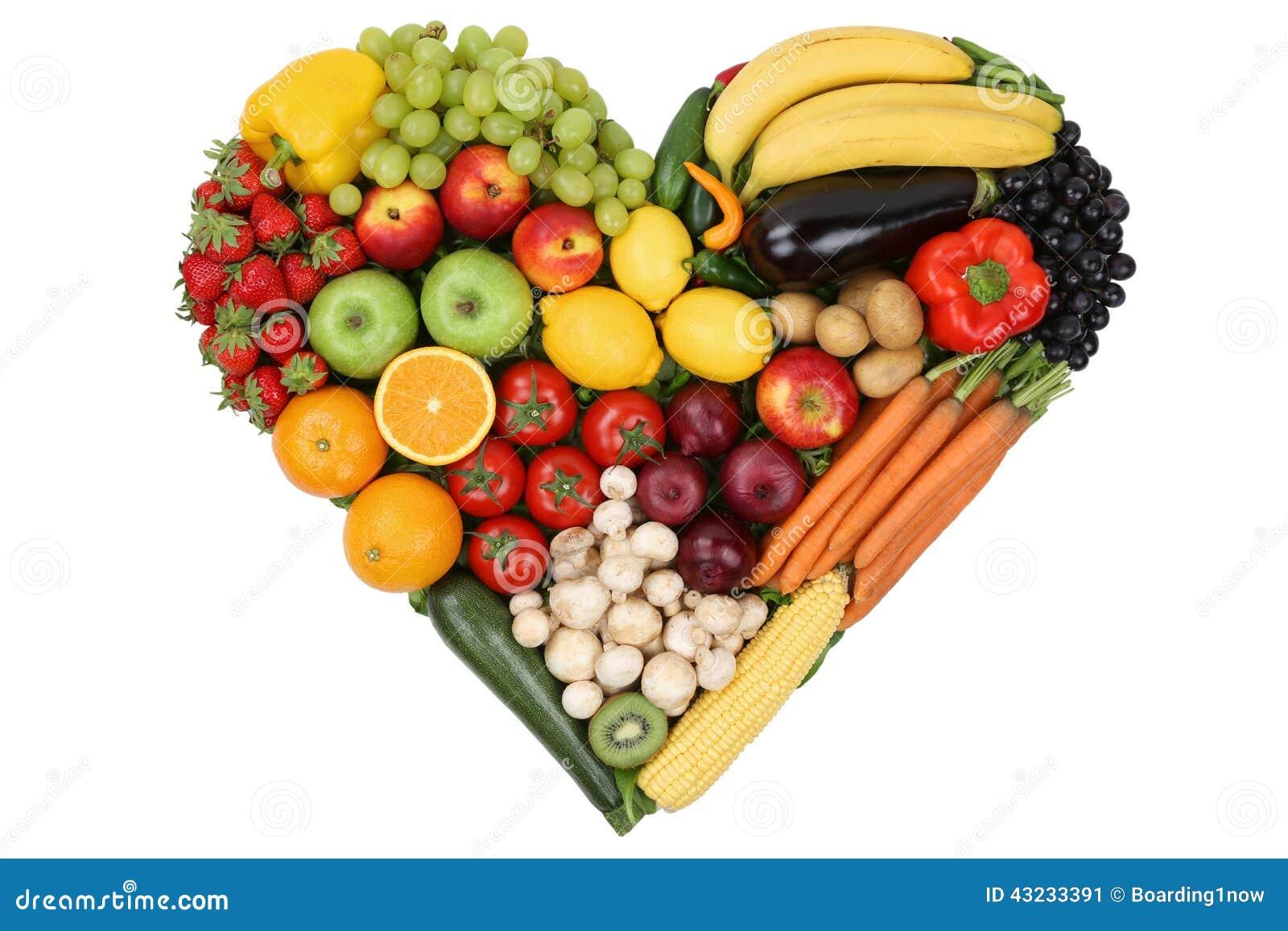 Les fruits et l gumes formant le coeur aiment le sujet et l 39 eatin sain image stock image du - Fruits et legumes de a a z ...
