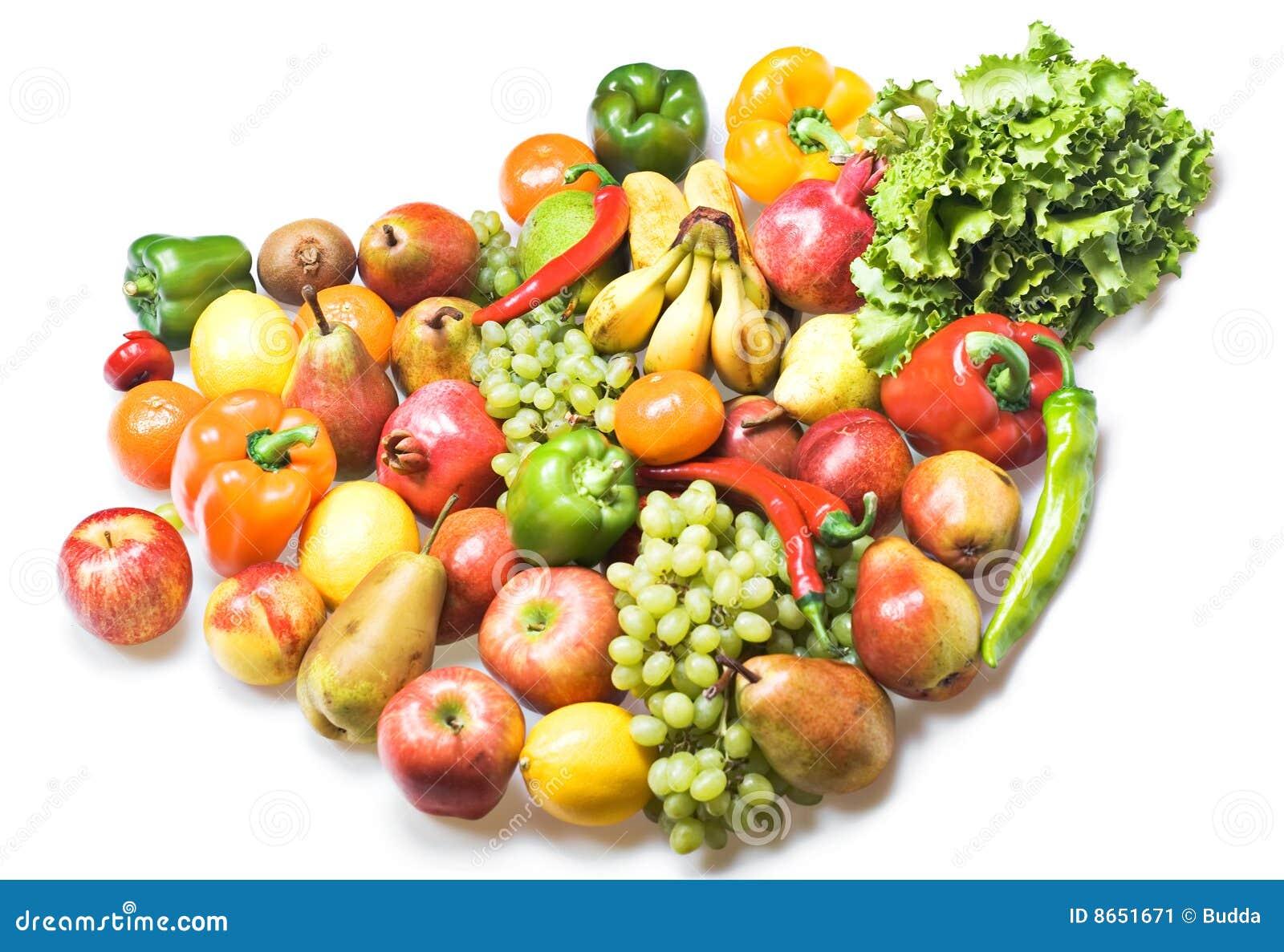 Les fruits ont isolé des légumes