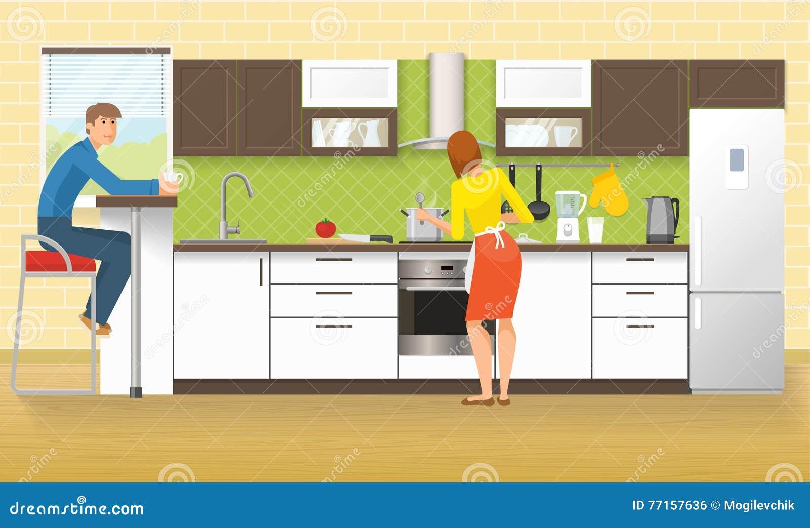 Les gens à la conception de cuisine