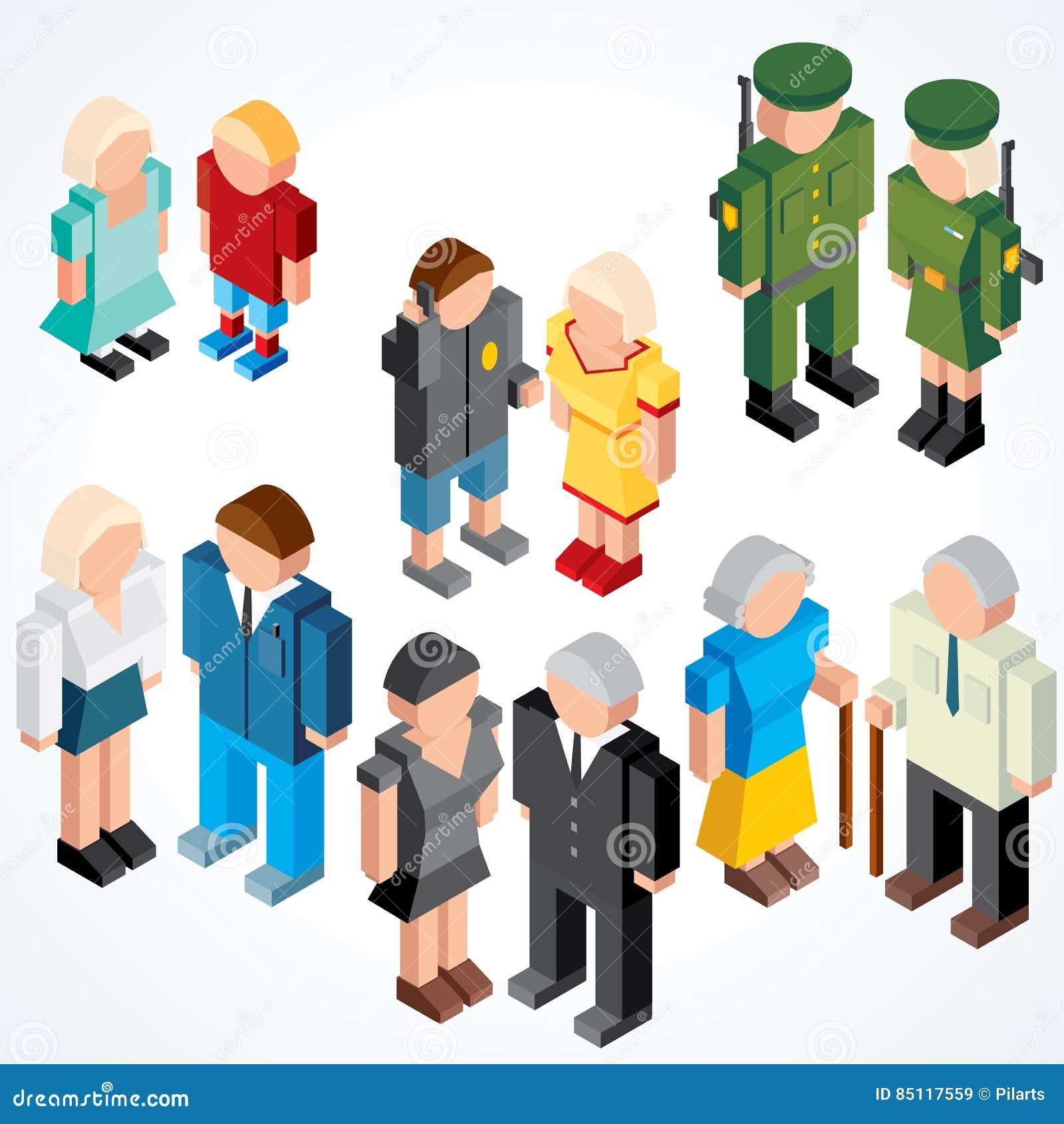 Les gens avec de divers âges