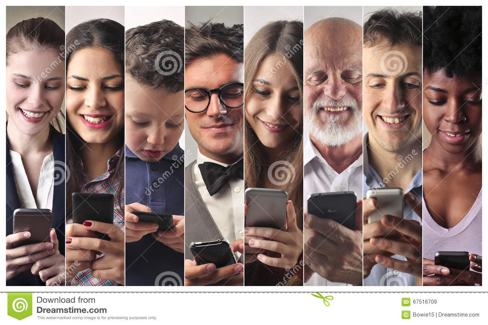 Les gens avec le téléphone