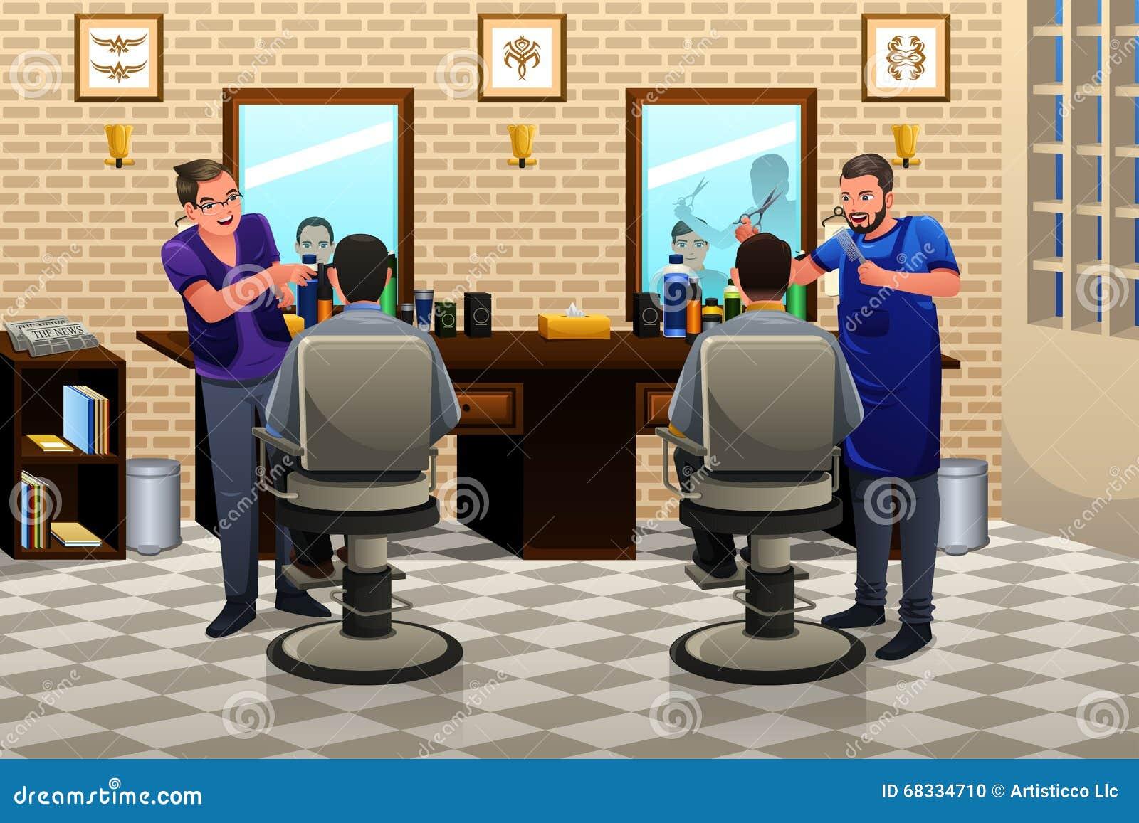 Les gens ayant la coupe de cheveux