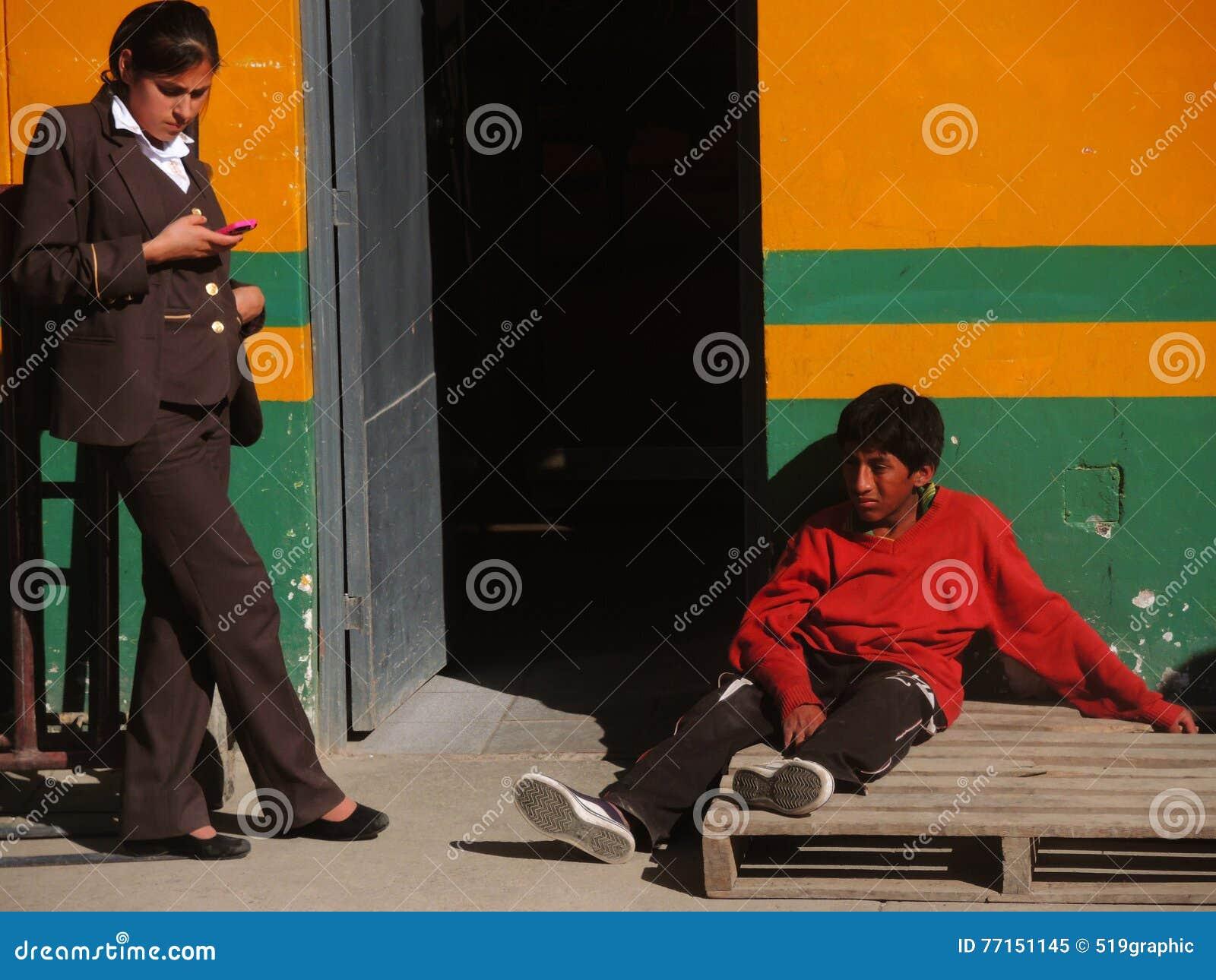 Les gens dans Cusco, Pérou