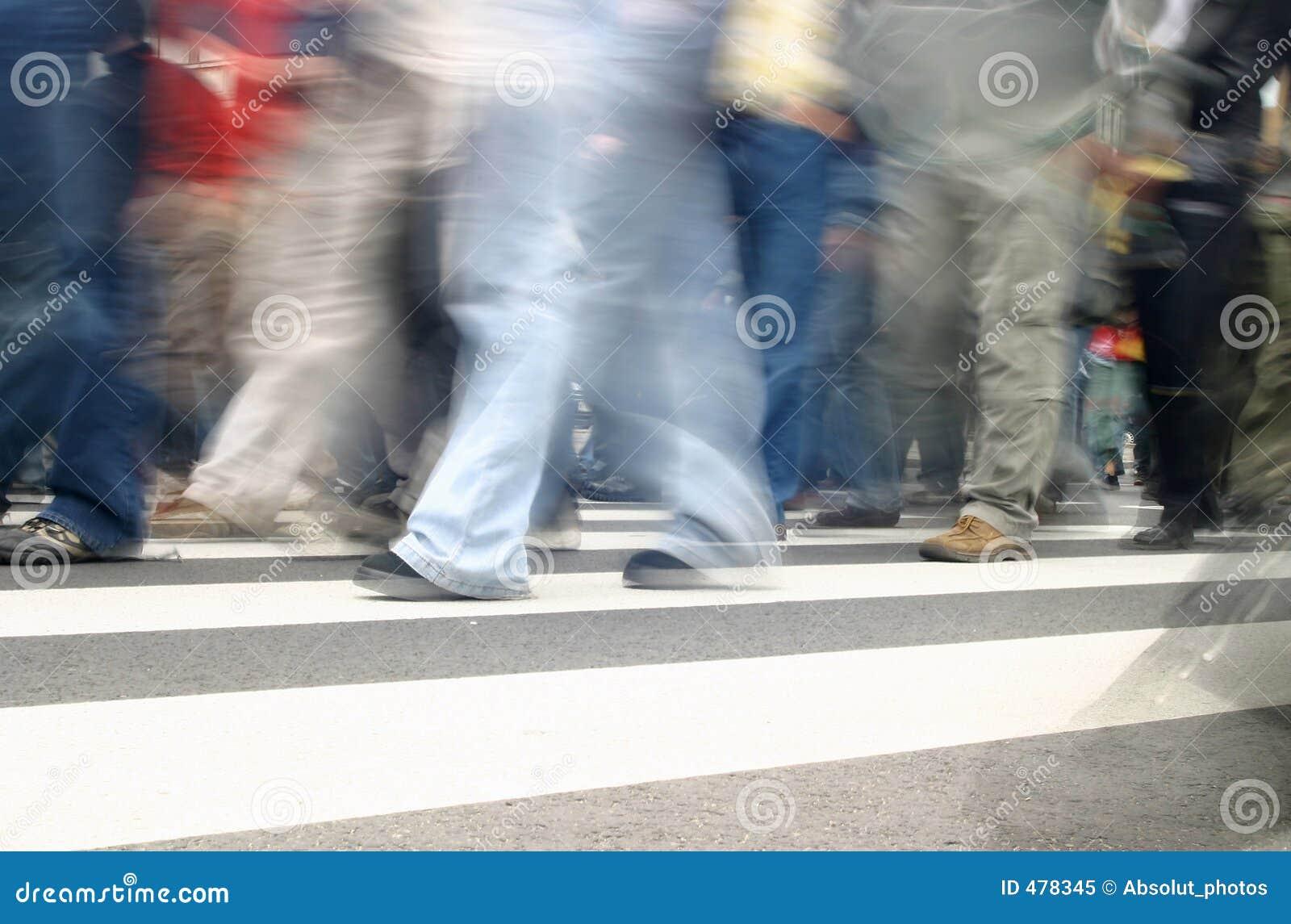 Les gens dans le mouvement