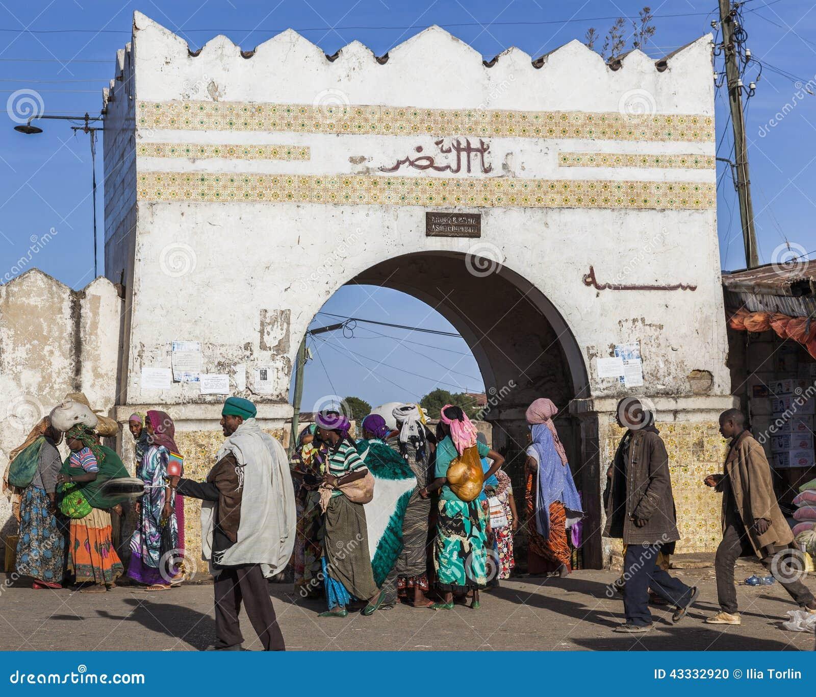 Les gens dans leurs activités courantes quotidiennes qui presque sans changement pendant plus de quatre cents années Harar l ethi