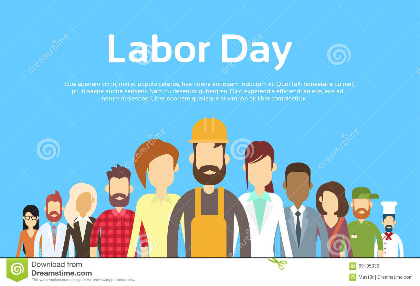 Les gens groupent l ensemble différent de profession, Fête du travail internationale