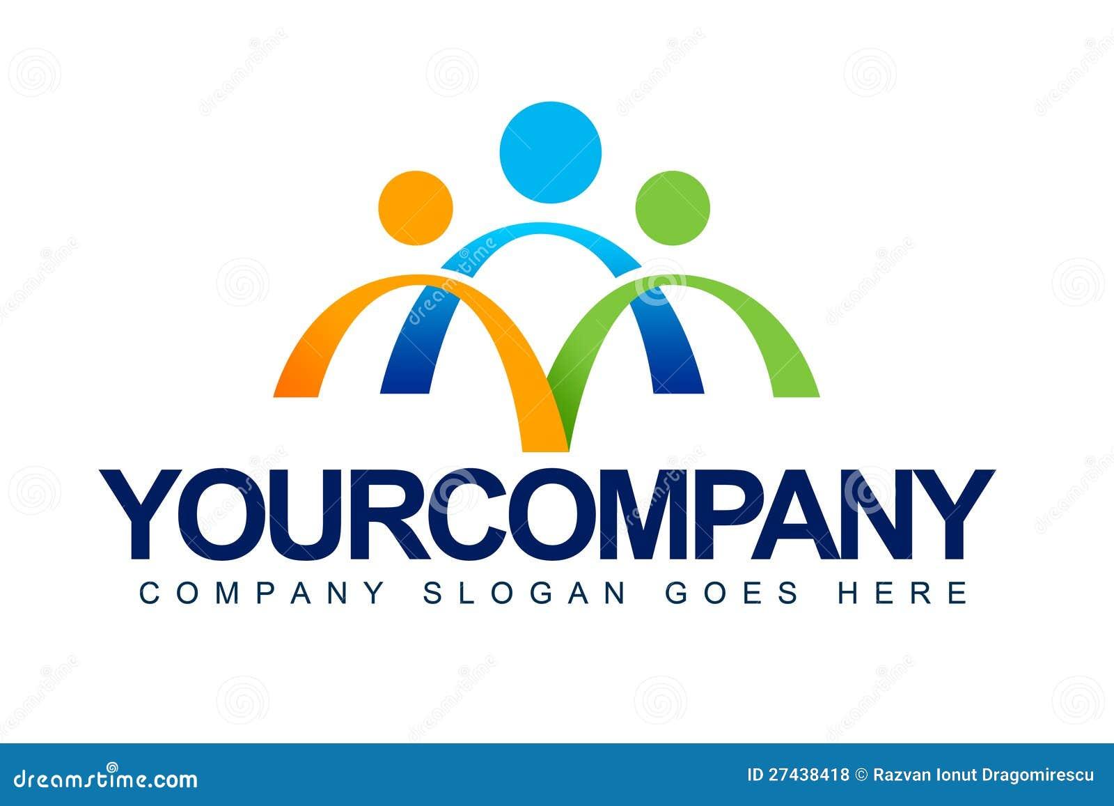 Les gens unissent le logo de concept