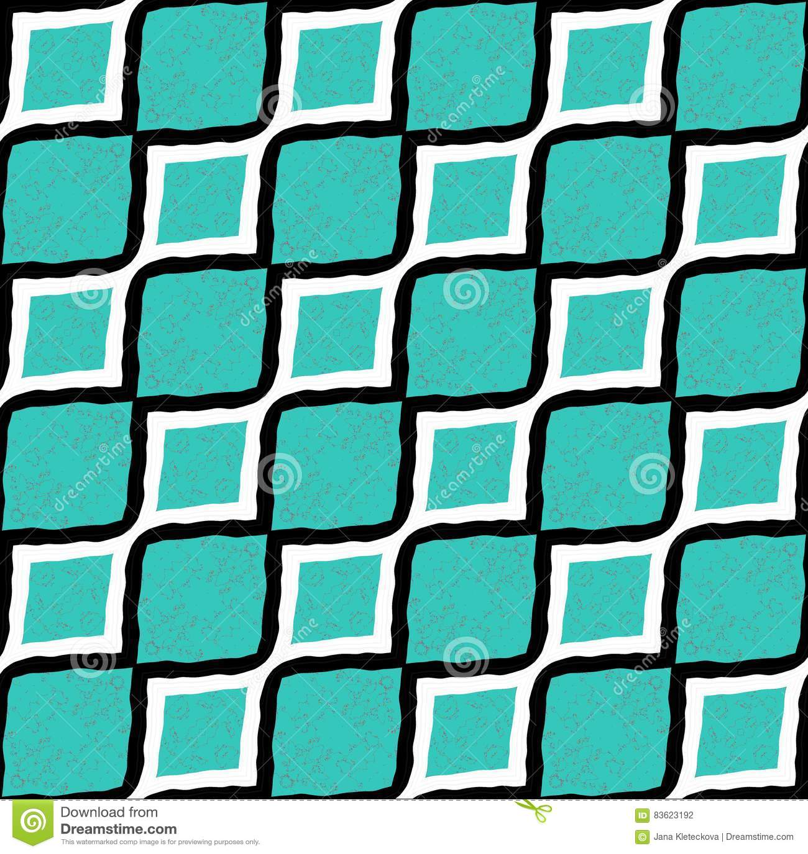 Les grandes lignes diagonales cyan et blanches et noires ont barré le papier peint sans couture de modèle plat de conception