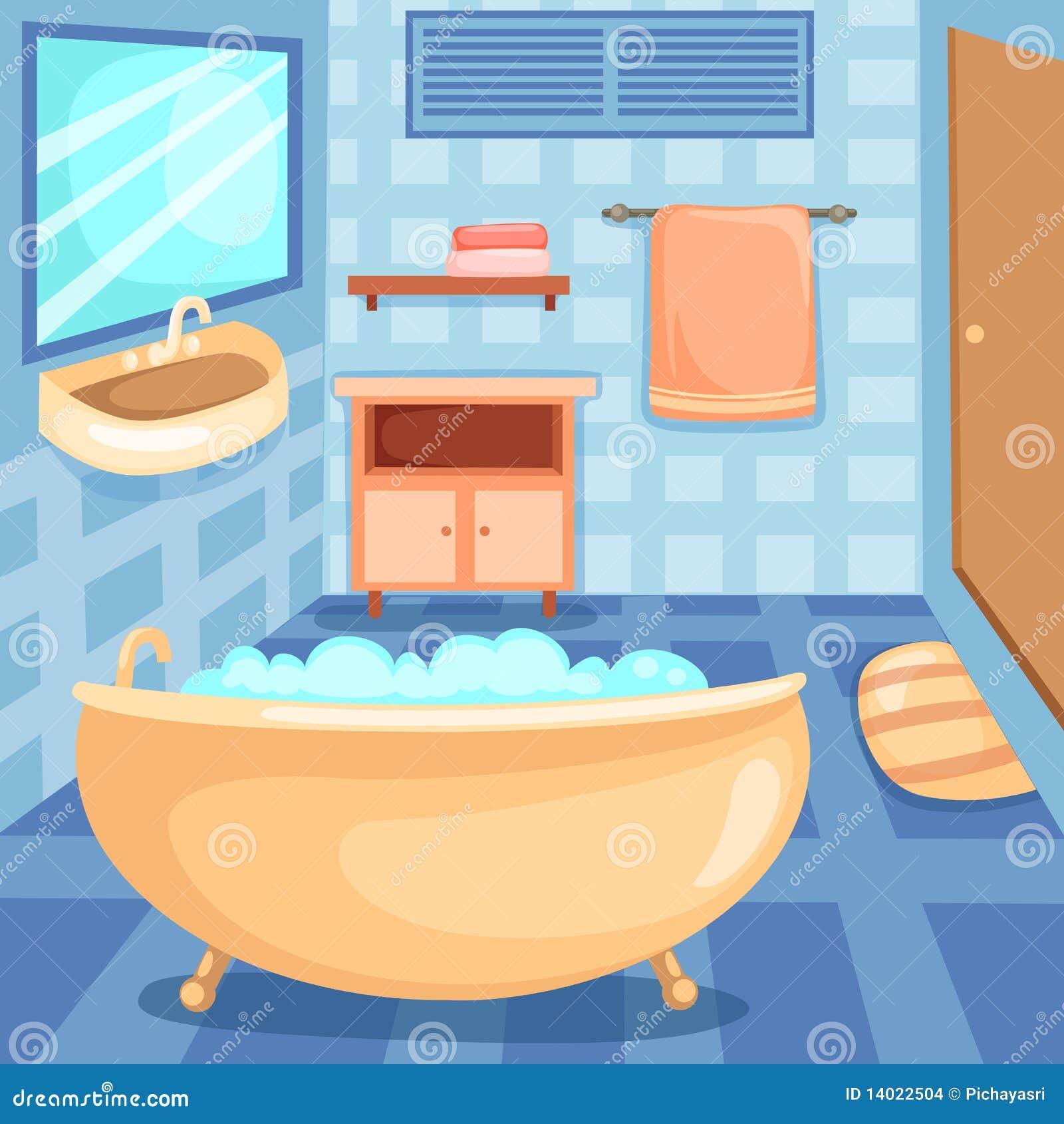 Les graphismes de salle de bains ont plac images stock for Dessin salle de bain 3d