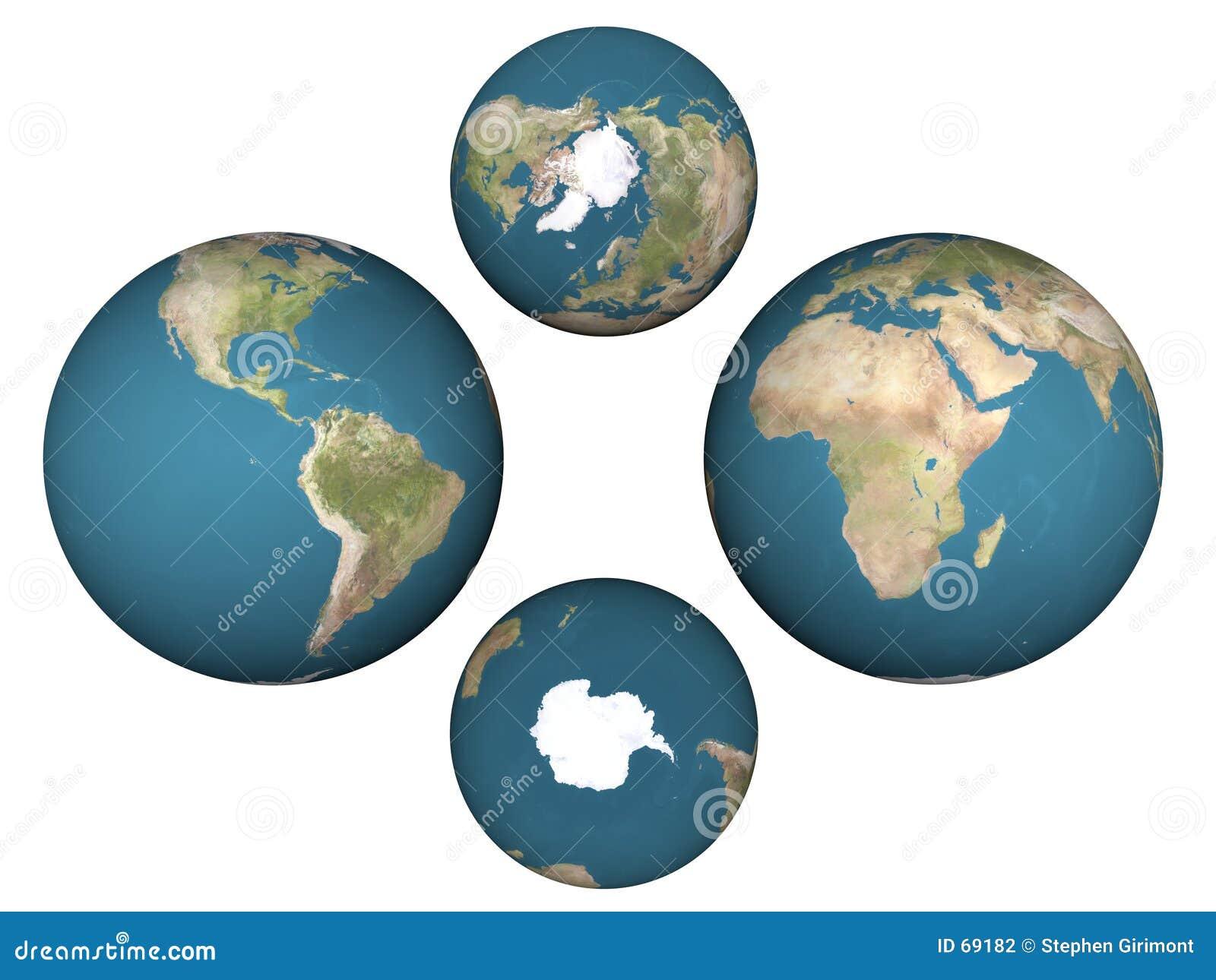 Les hémisphères de la terre